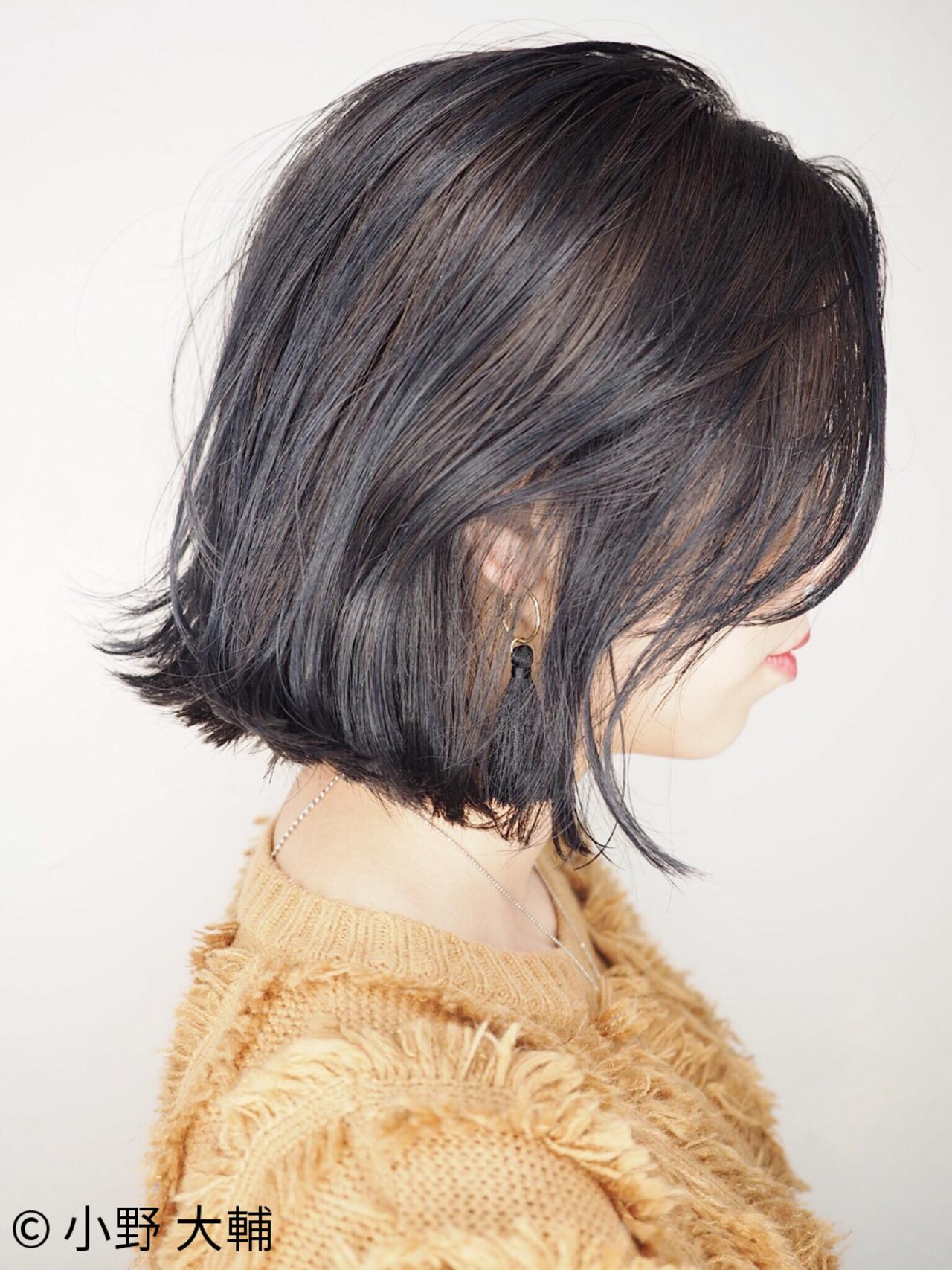 外ハネ ナチュラル 外国人風カラー ボブ ヘアスタイルや髪型の写真・画像 | 小野 大輔 / OHIA  for plumeria