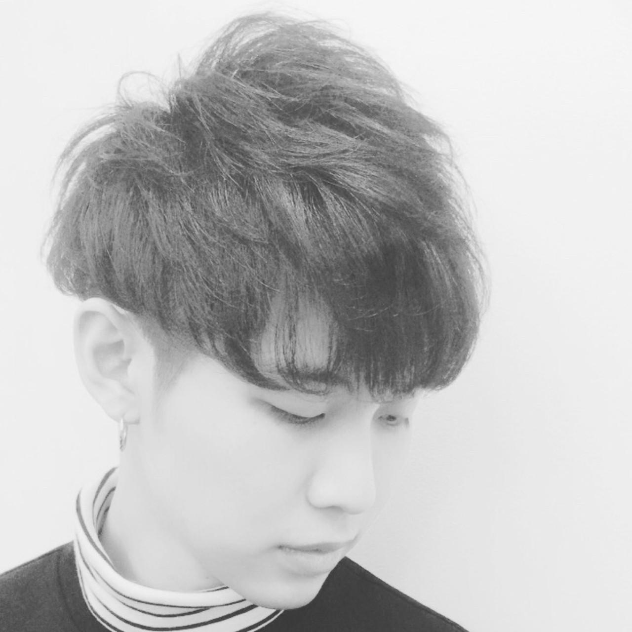 ショート パーマ ストリート モード ヘアスタイルや髪型の写真・画像 | 飯島 直彬 / SEES HAIR