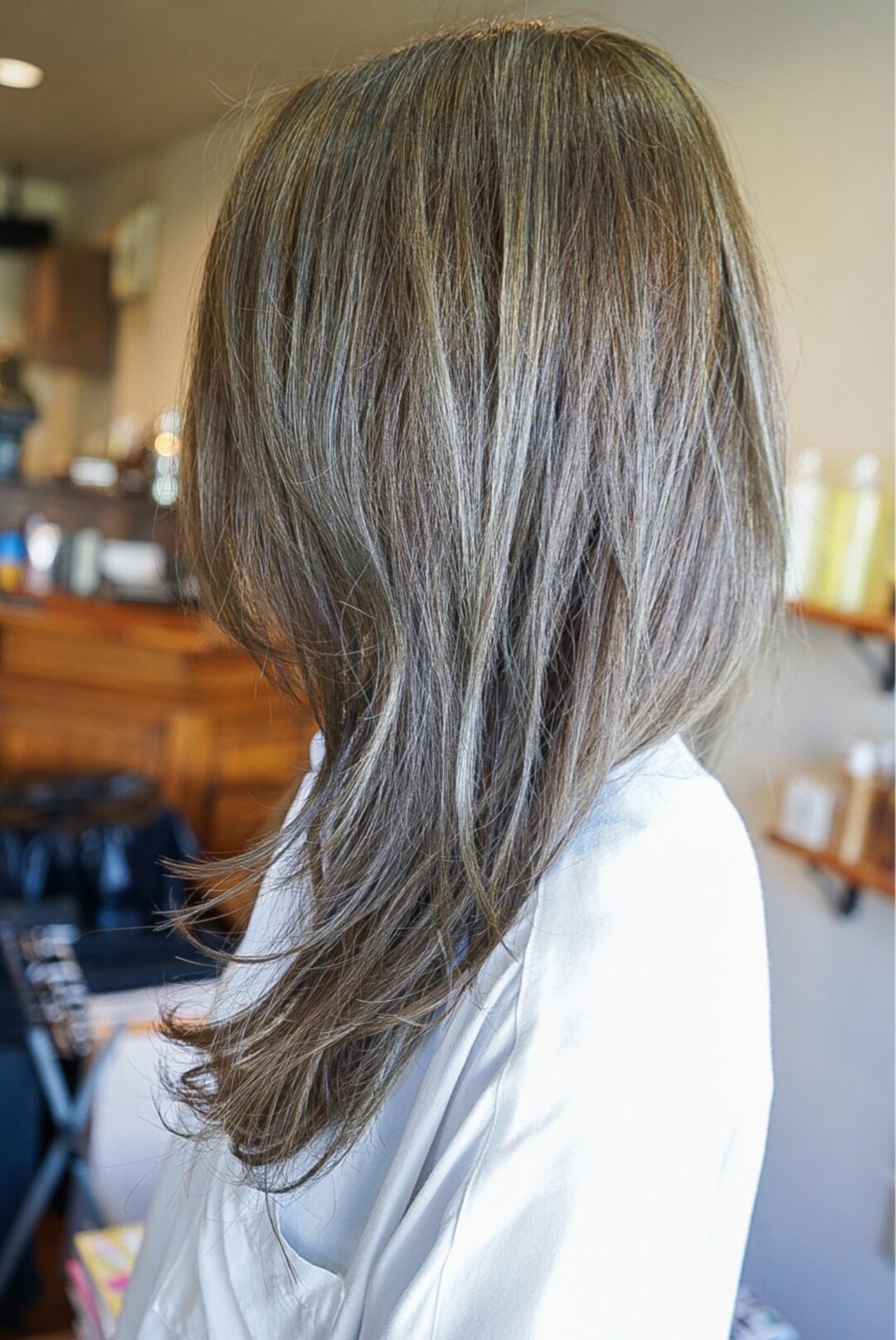ストリート グラデーションカラー アッシュ イルミナカラー ヘアスタイルや髪型の写真・画像 | 小野貴之 / cyan hair make