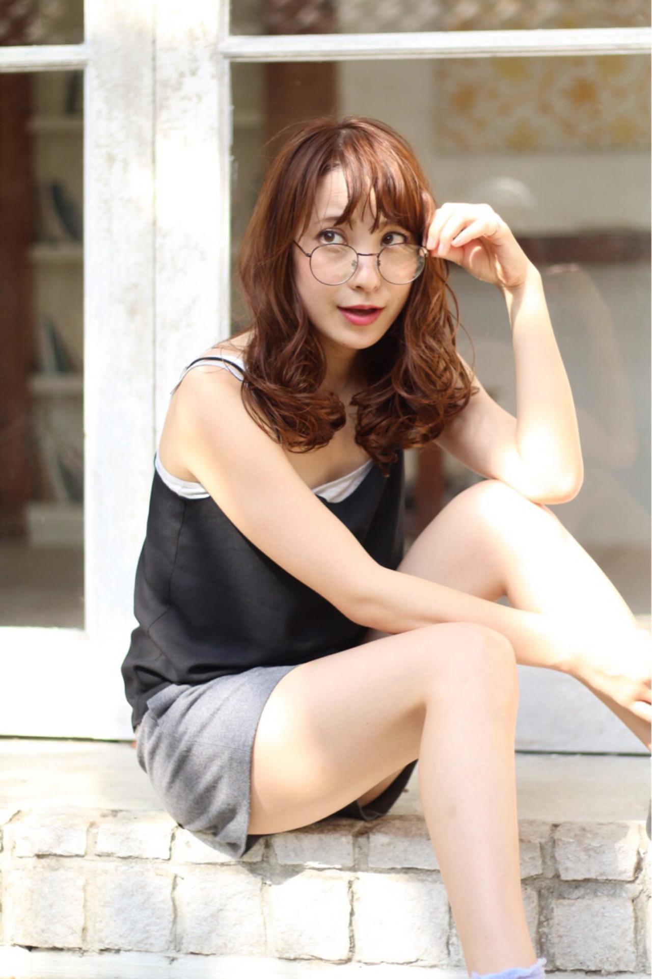 アッシュ ストリート ロング 外国人風 ヘアスタイルや髪型の写真・画像   カオ /