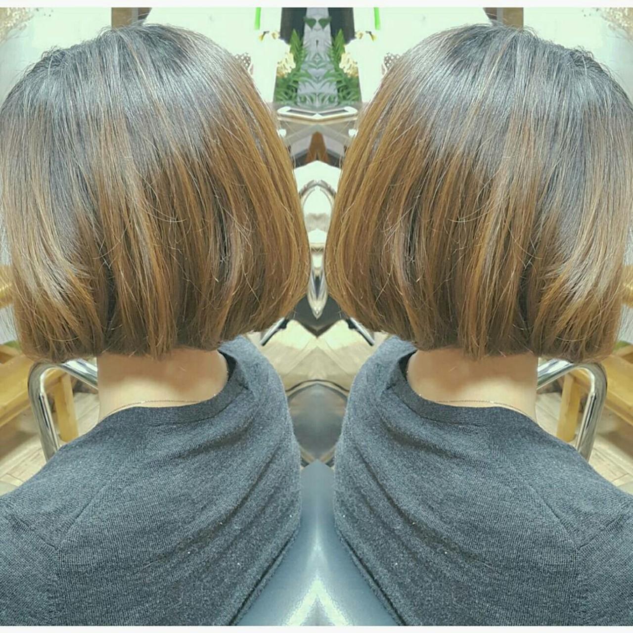 色気 ボブ 艶髪 大人かわいいヘアスタイルや髪型の写真・画像