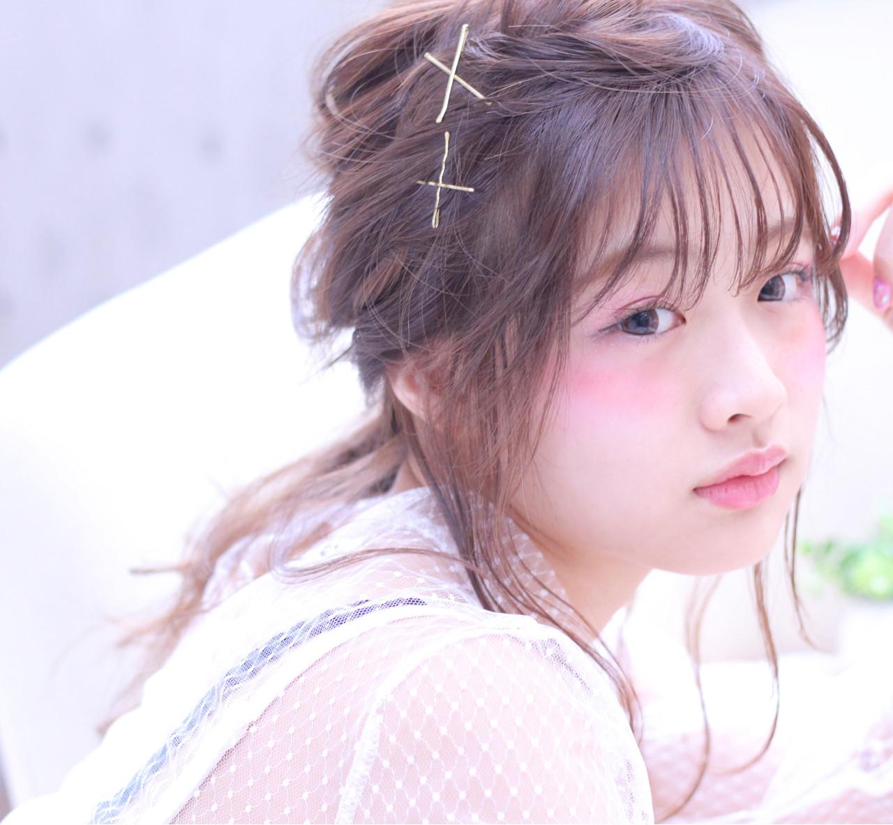 シースルーバング デート おフェロ ガーリー ヘアスタイルや髪型の写真・画像 | Wataru Maeda / cache cache