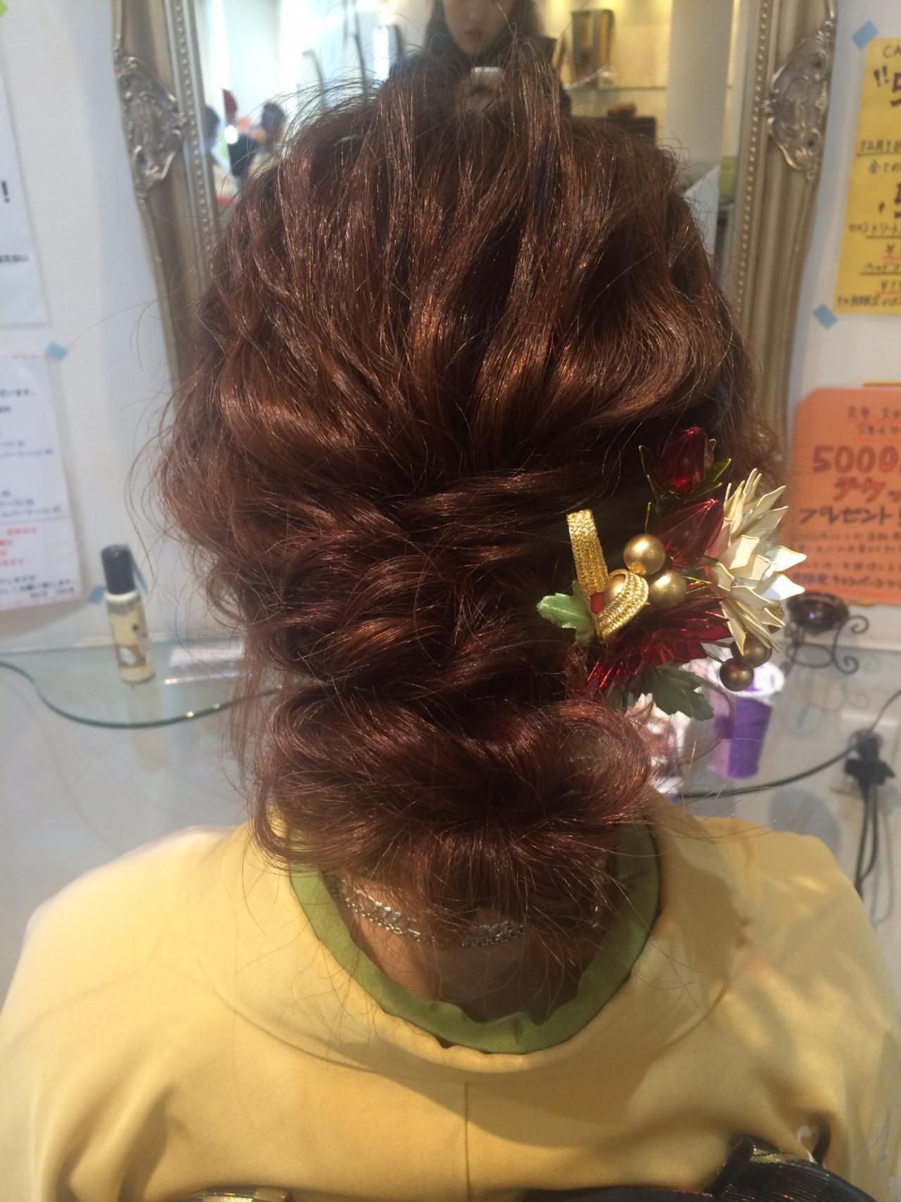 ゆるふわ ヘアアレンジ ショート フェミニン ヘアスタイルや髪型の写真・画像   aya / hair calm