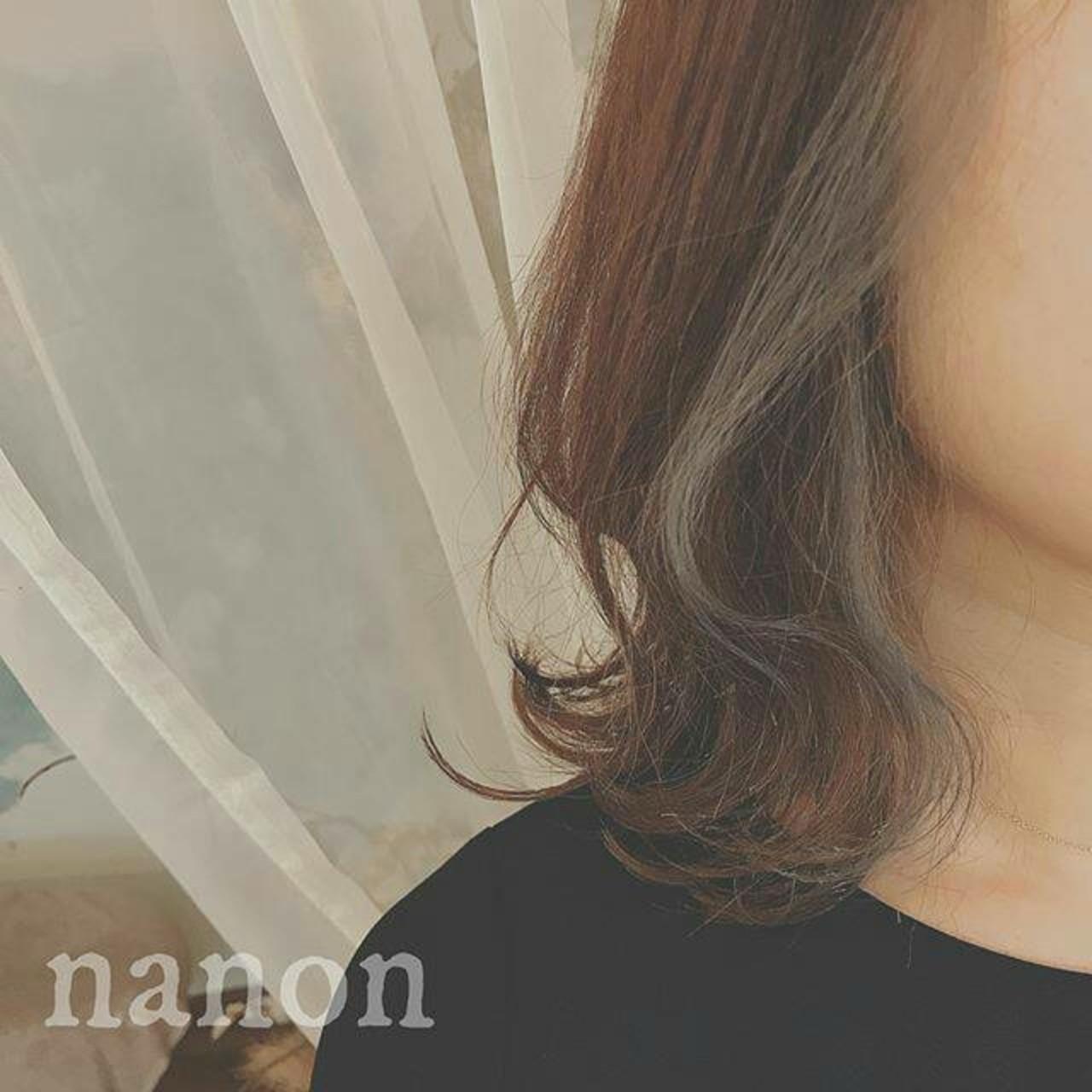 冬 こなれ感 デート フェミニン ヘアスタイルや髪型の写真・画像   浦川由起江 / nanon