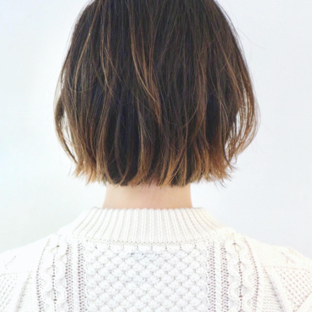 グラデーションカラー インナーカラー ストリート ボブ ヘアスタイルや髪型の写真・画像 | 三好 佳奈美 / Baco.(バコ)