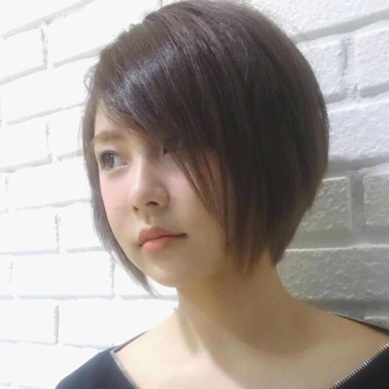 アッシュ 外国人風 大人かわいい ボブ ヘアスタイルや髪型の写真・画像   横徳憲史 / VISAGE genuine