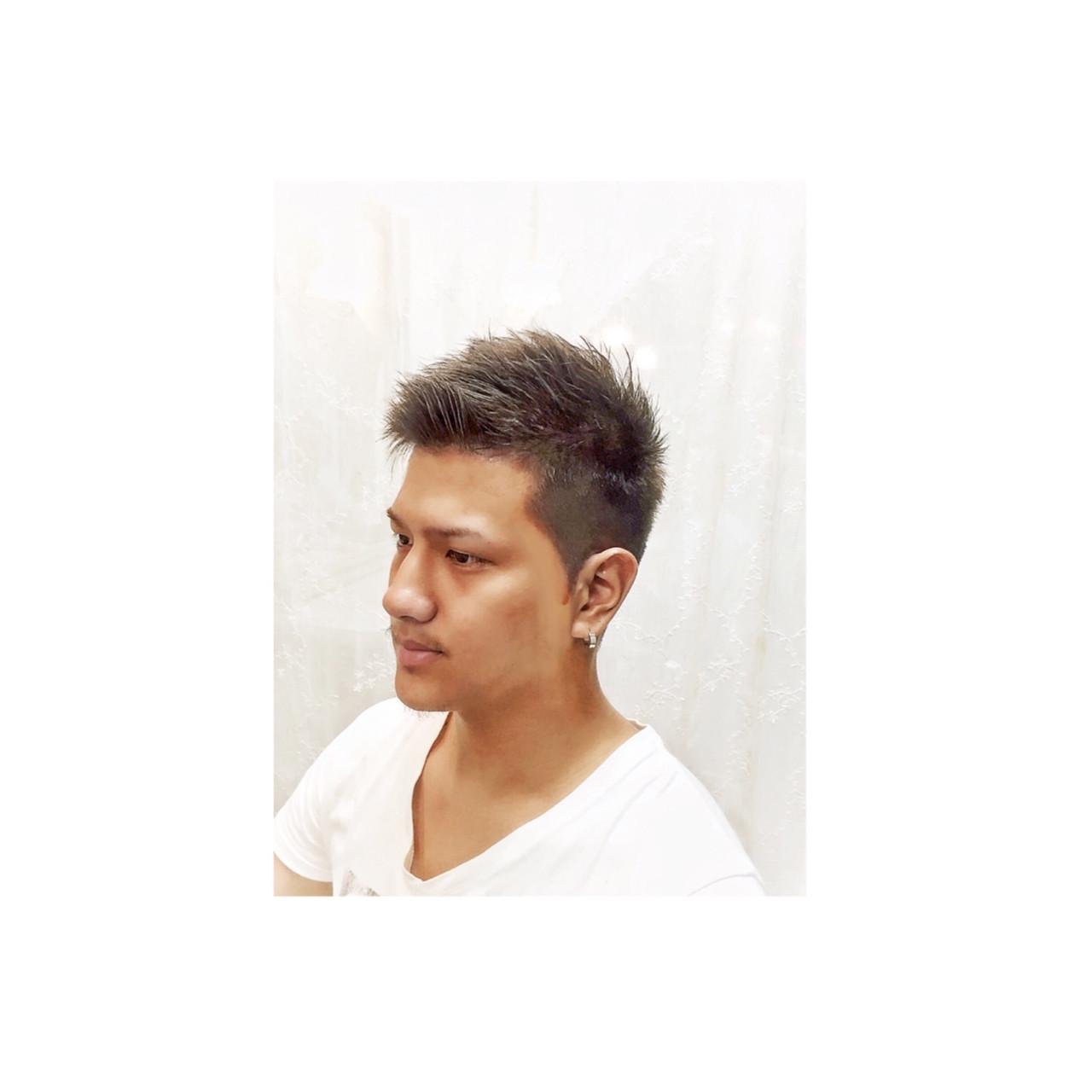 ストリート メンズ ショート 外国人風 ヘアスタイルや髪型の写真・画像   teddy / grauge hair
