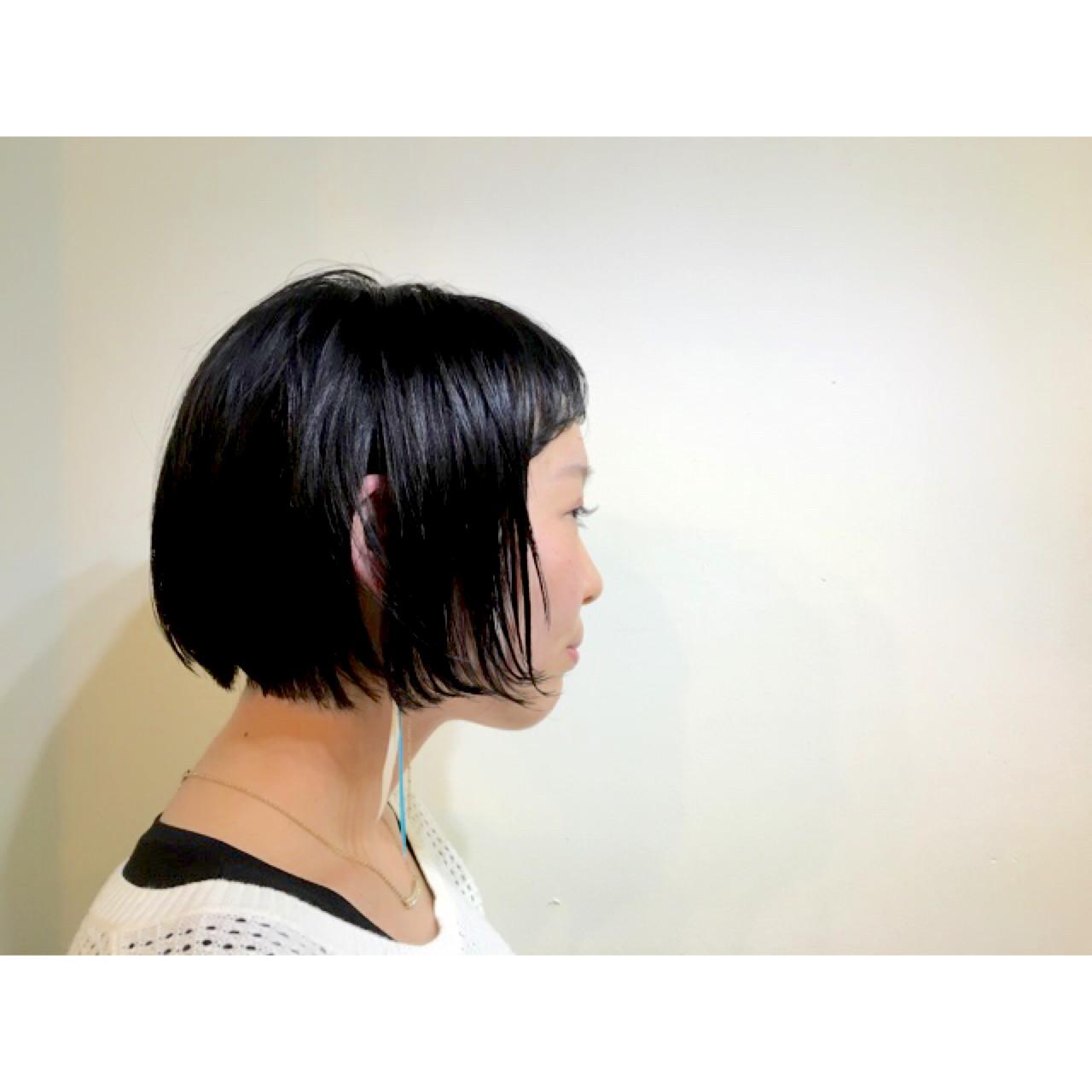 ナチュラル 黒髪 前髪あり 耳かけ ヘアスタイルや髪型の写真・画像 | COM PASS 太一 / COM PASS
