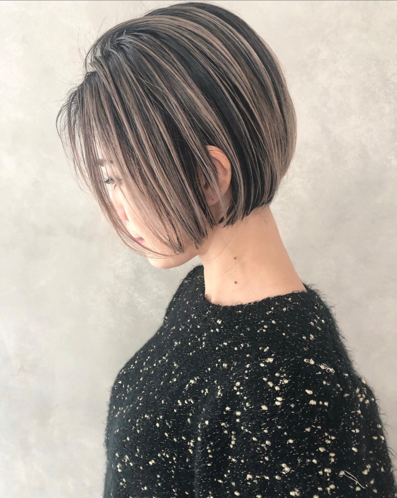 ミニボブ ボブ 切りっぱなしボブ ショートボブ ヘアスタイルや髪型の写真・画像   ALT 森田 正浩 / ALT