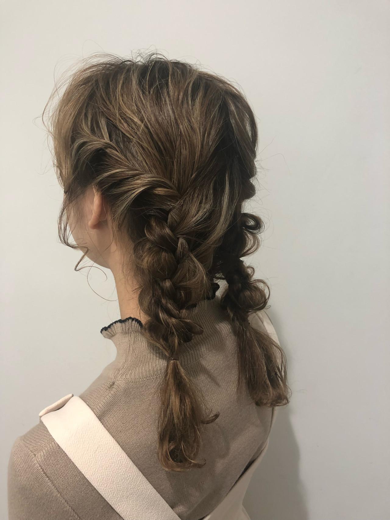 デート ミディアム 簡単ヘアアレンジ ヘアアレンジヘアスタイルや髪型の写真・画像