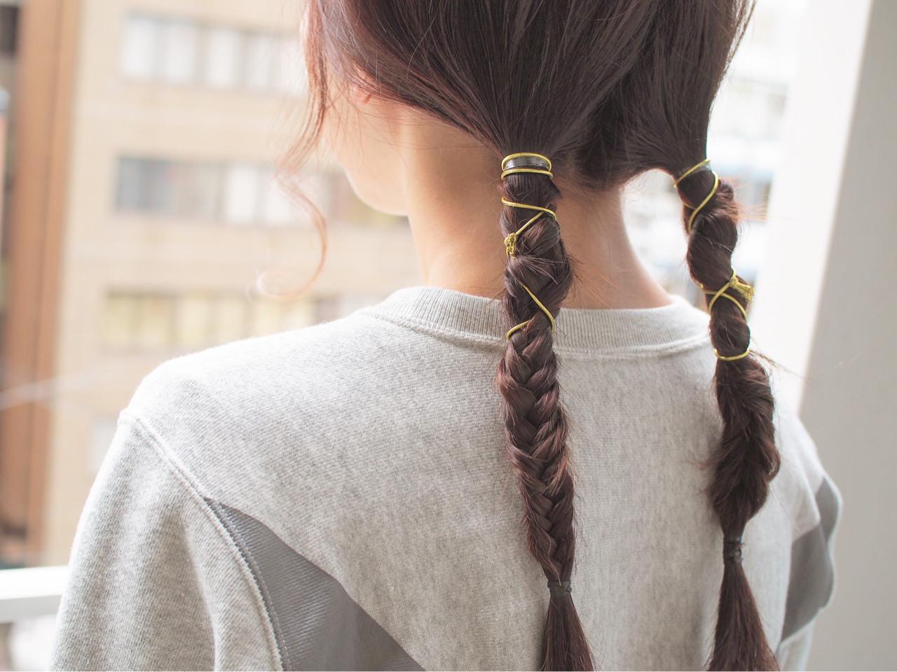 簡単ヘアアレンジ グラデーションカラー ハイライト ヘアアレンジ ヘアスタイルや髪型の写真・画像 | 津村正和/大阪心斎橋 / freelance