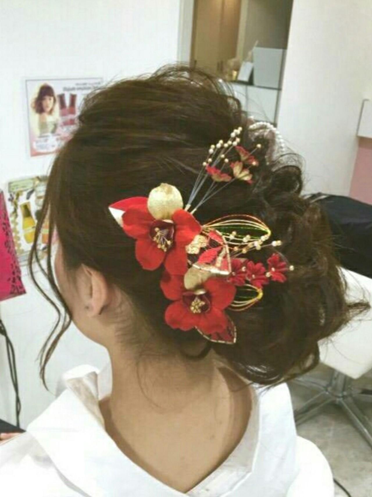 成人式 ヘアアレンジ 大人女子 ナチュラルヘアスタイルや髪型の写真・画像