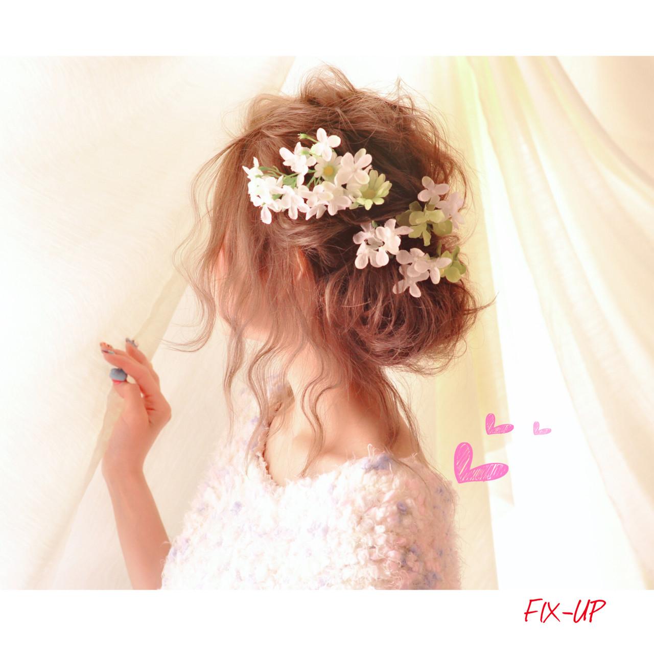 簡単ヘアアレンジ ミディアム ショート ヘアアレンジヘアスタイルや髪型の写真・画像