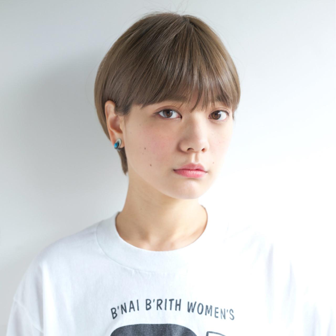 大人かわいい ナチュラル ショート 外国人風ヘアスタイルや髪型の写真・画像