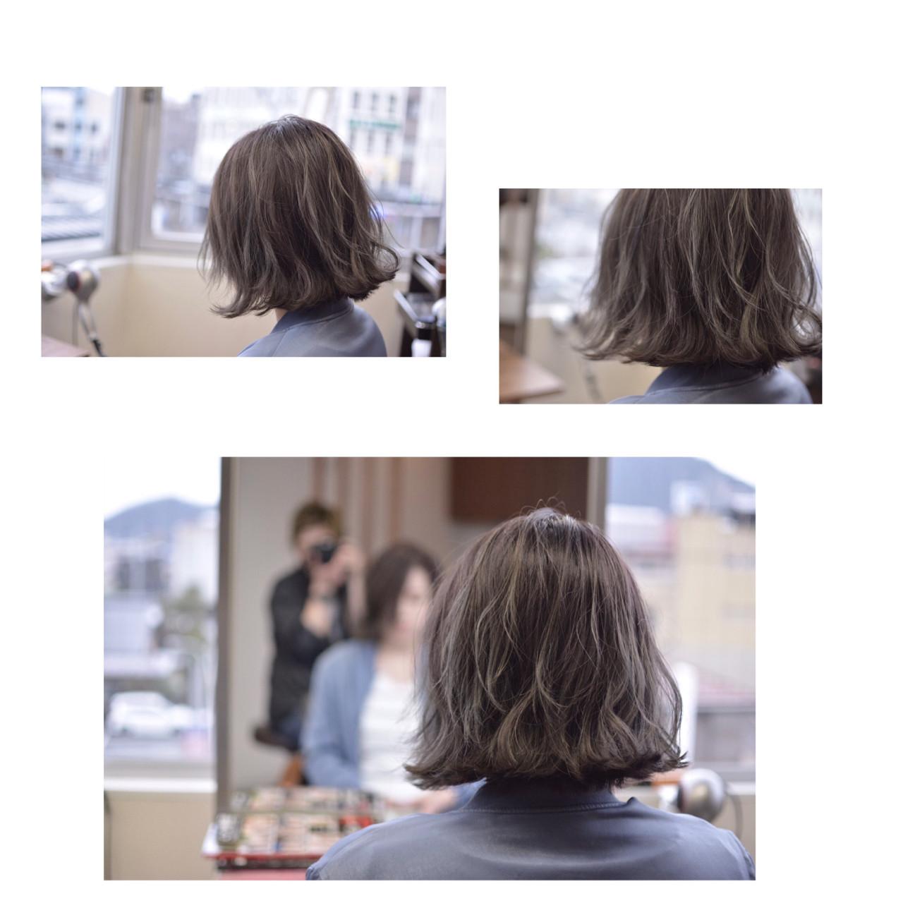 ストリート 透明感 グラデーションカラー シルバーアッシュヘアスタイルや髪型の写真・画像
