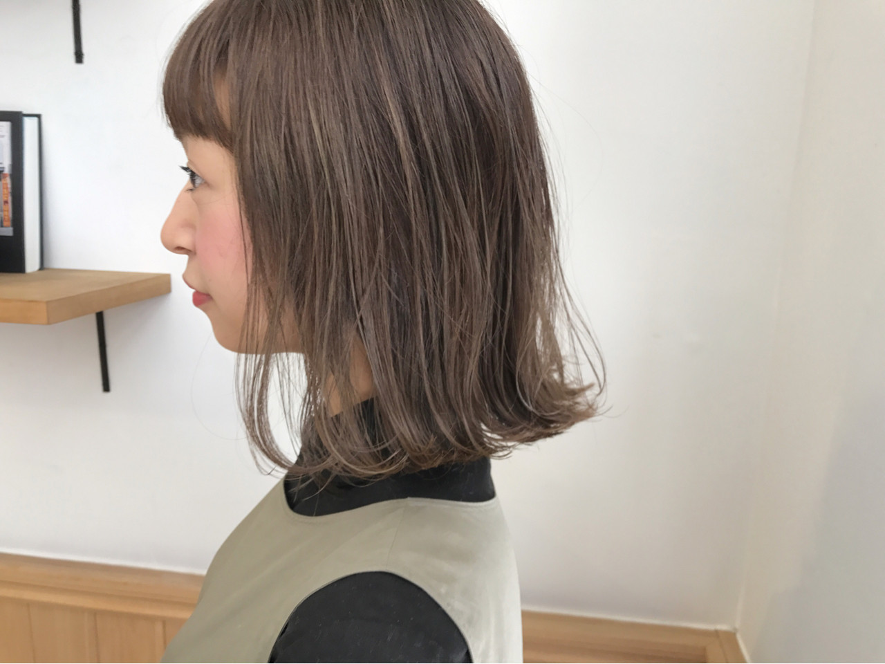 切りっぱなし ナチュラル ミディアム ボブ ヘアスタイルや髪型の写真・画像 | KENTO.NOESALON / NOE SALON