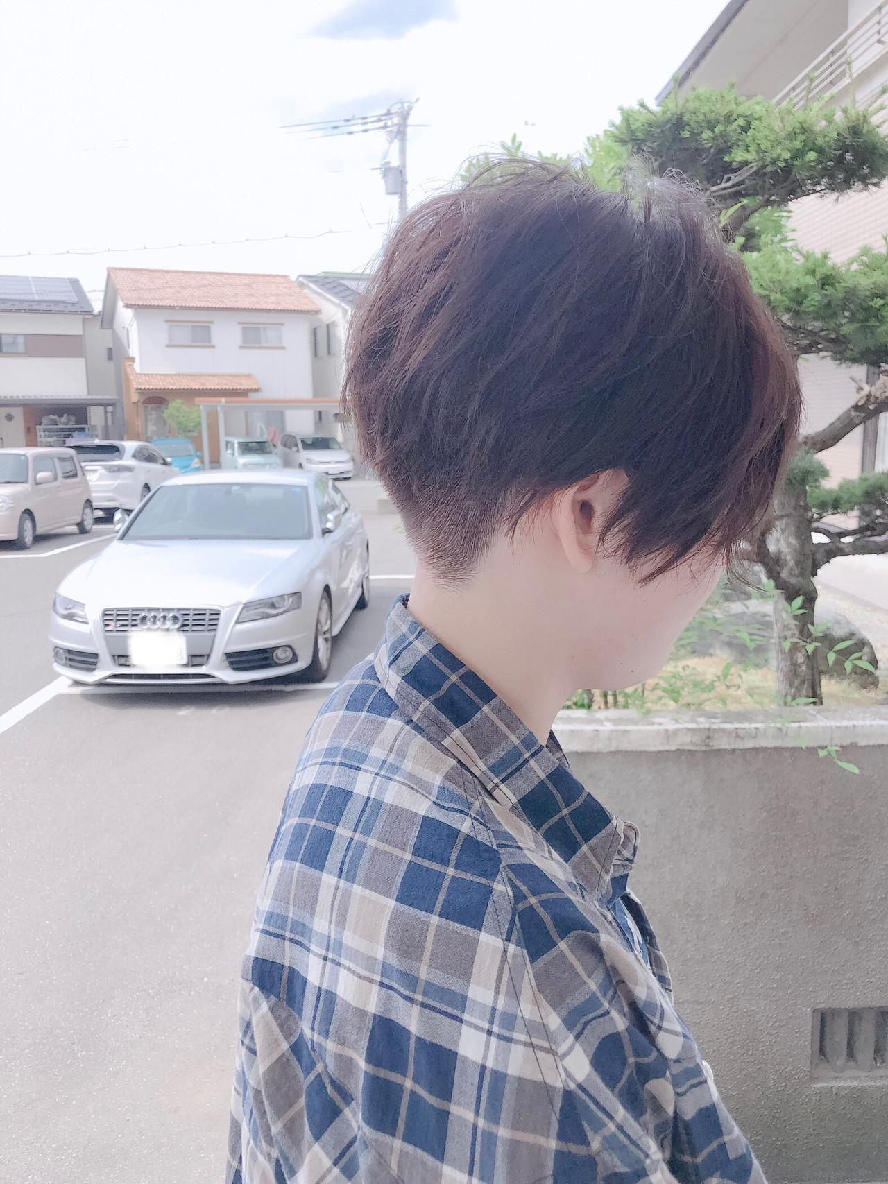 ジェンダーレス 小顔ショート ショート ショートヘア ヘアスタイルや髪型の写真・画像 | 北川友理 / unsung