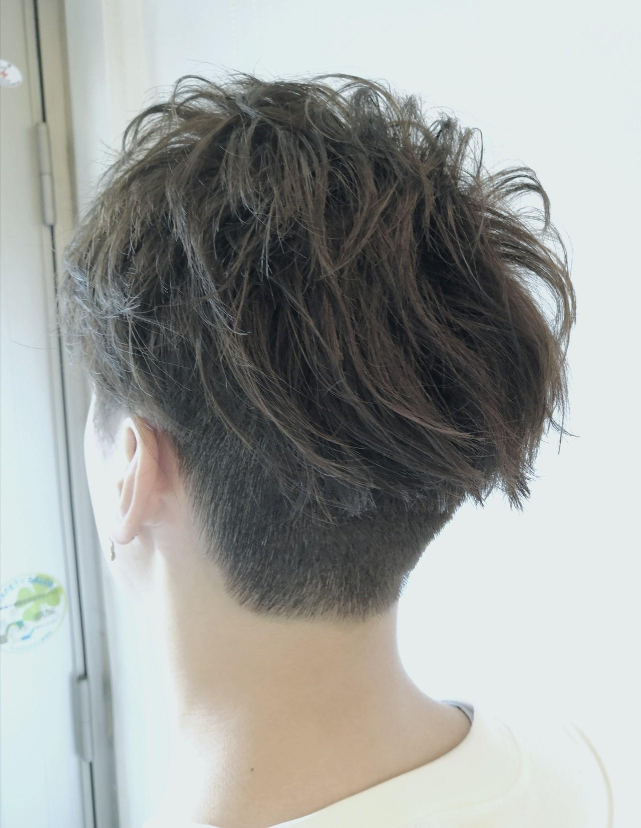 アディクシーカラー ショート ストリート メンズショート ヘアスタイルや髪型の写真・画像 | ふくずみかよ / THETA of hair