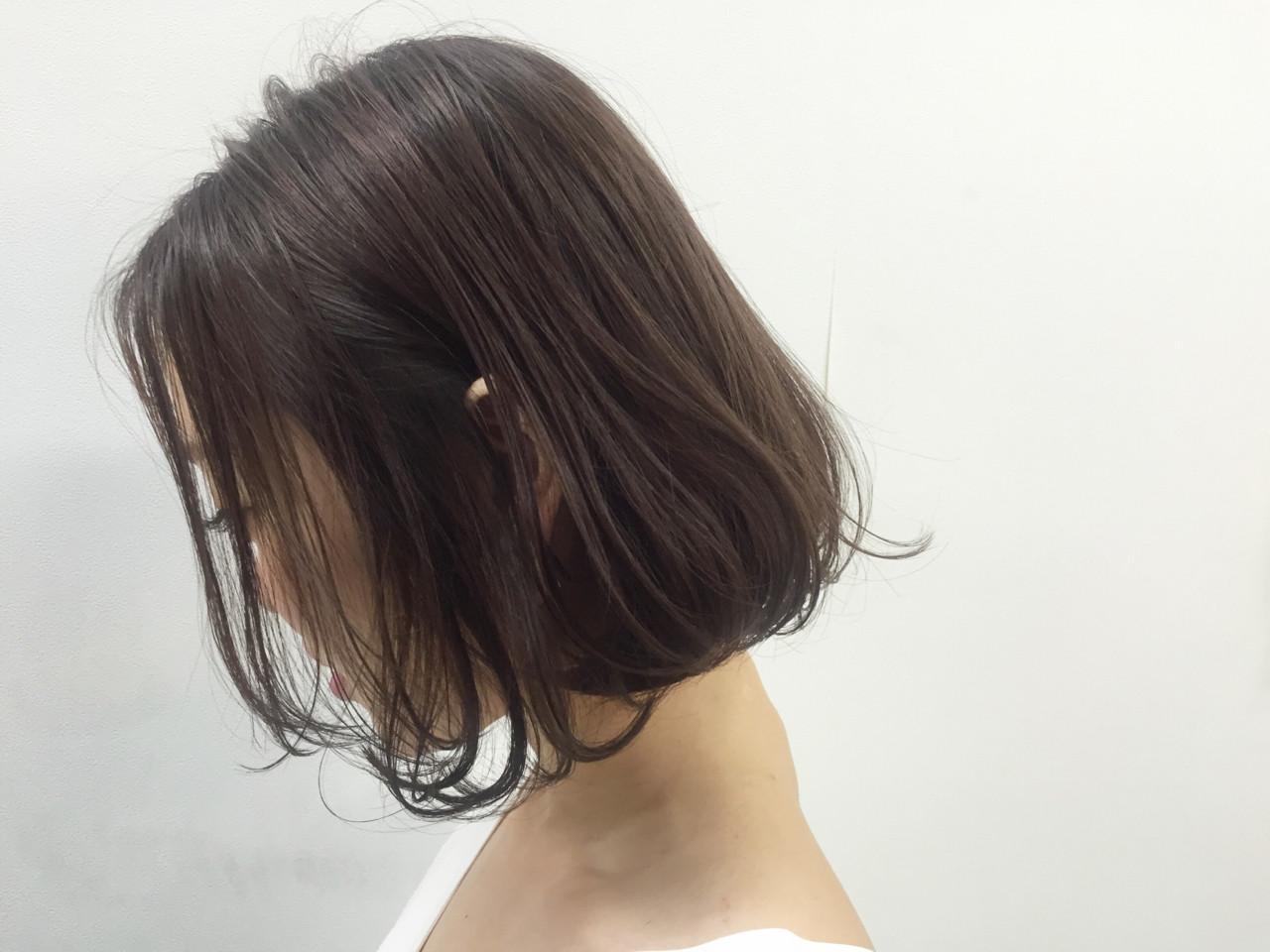 色気 ボブ ナチュラル くせ毛風 ヘアスタイルや髪型の写真・画像   OYAMA KENICHI / BALLOON HAIR