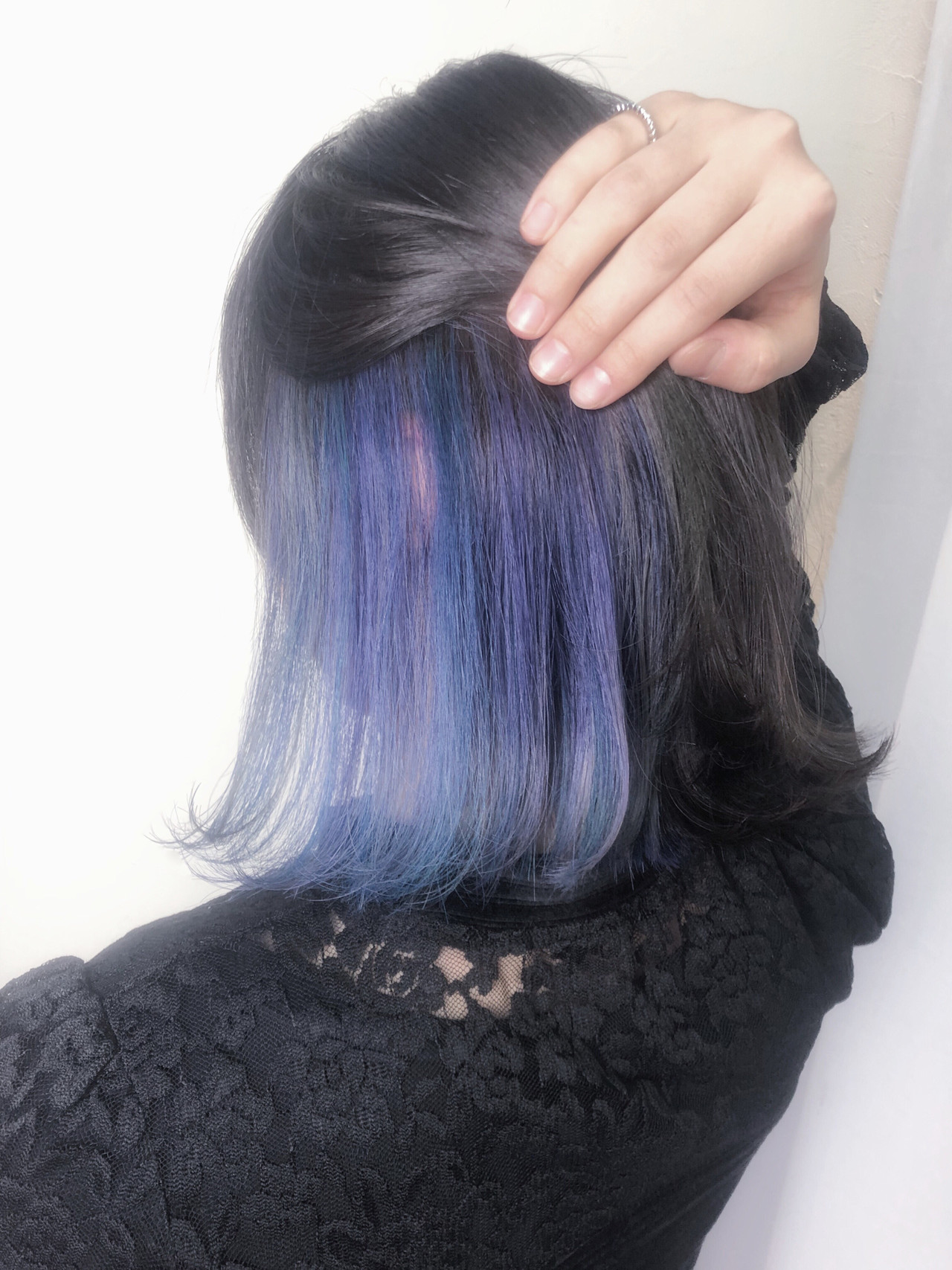 ブルー 簡単ヘアアレンジ ナチュラル インナーブルー ヘアスタイルや髪型の写真・画像 | TAKUMI KAWAHORI / ankclassic