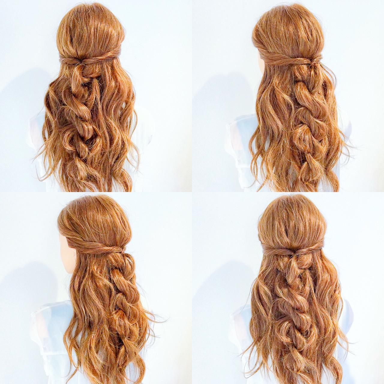 簡単ヘアアレンジ ヘアアレンジ ロング 夏ヘアスタイルや髪型の写真・画像