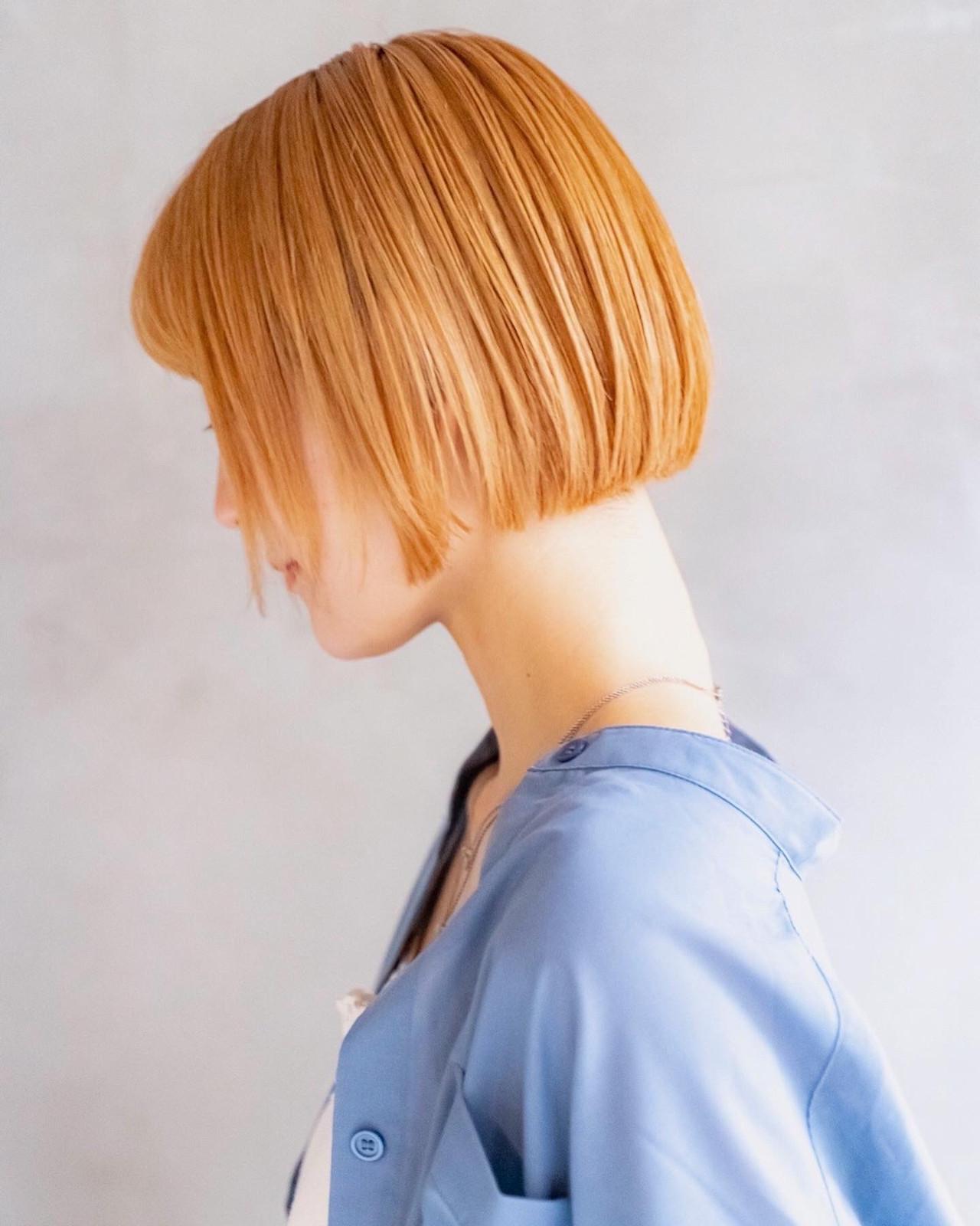 ショートボブ ボブ ミニボブ デートヘアスタイルや髪型の写真・画像
