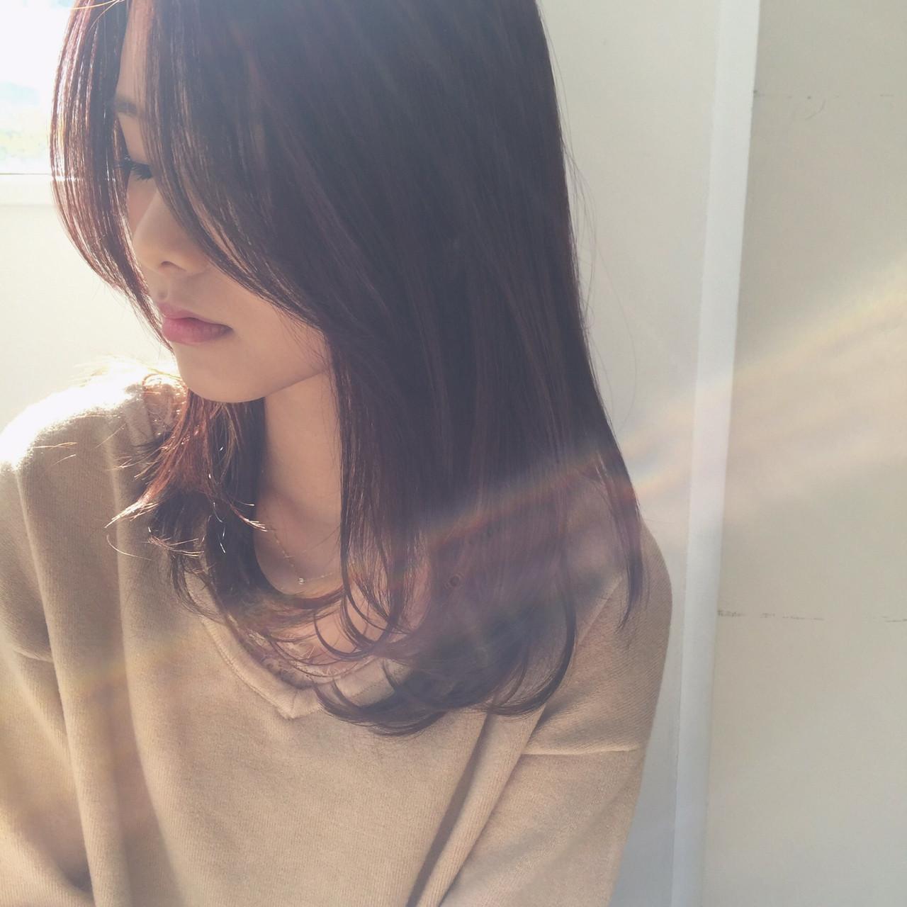 デート 大人女子 ニュアンス セミロング ヘアスタイルや髪型の写真・画像 | 勝田 祐介 / basil pupula