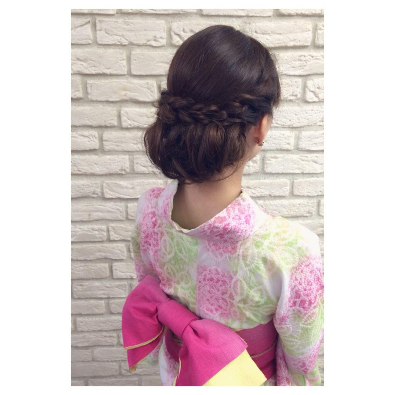 お祭り 結婚式 ナチュラル 花火大会 ヘアスタイルや髪型の写真・画像 | 斉藤 友美 / hair Mission