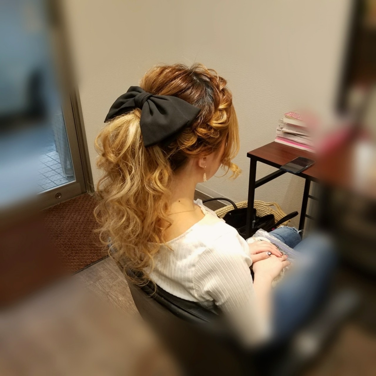 ロング ヘアアレンジ 編み込み ポニーテール ヘアスタイルや髪型の写真・画像 | mai / HAIR SALON STELLA