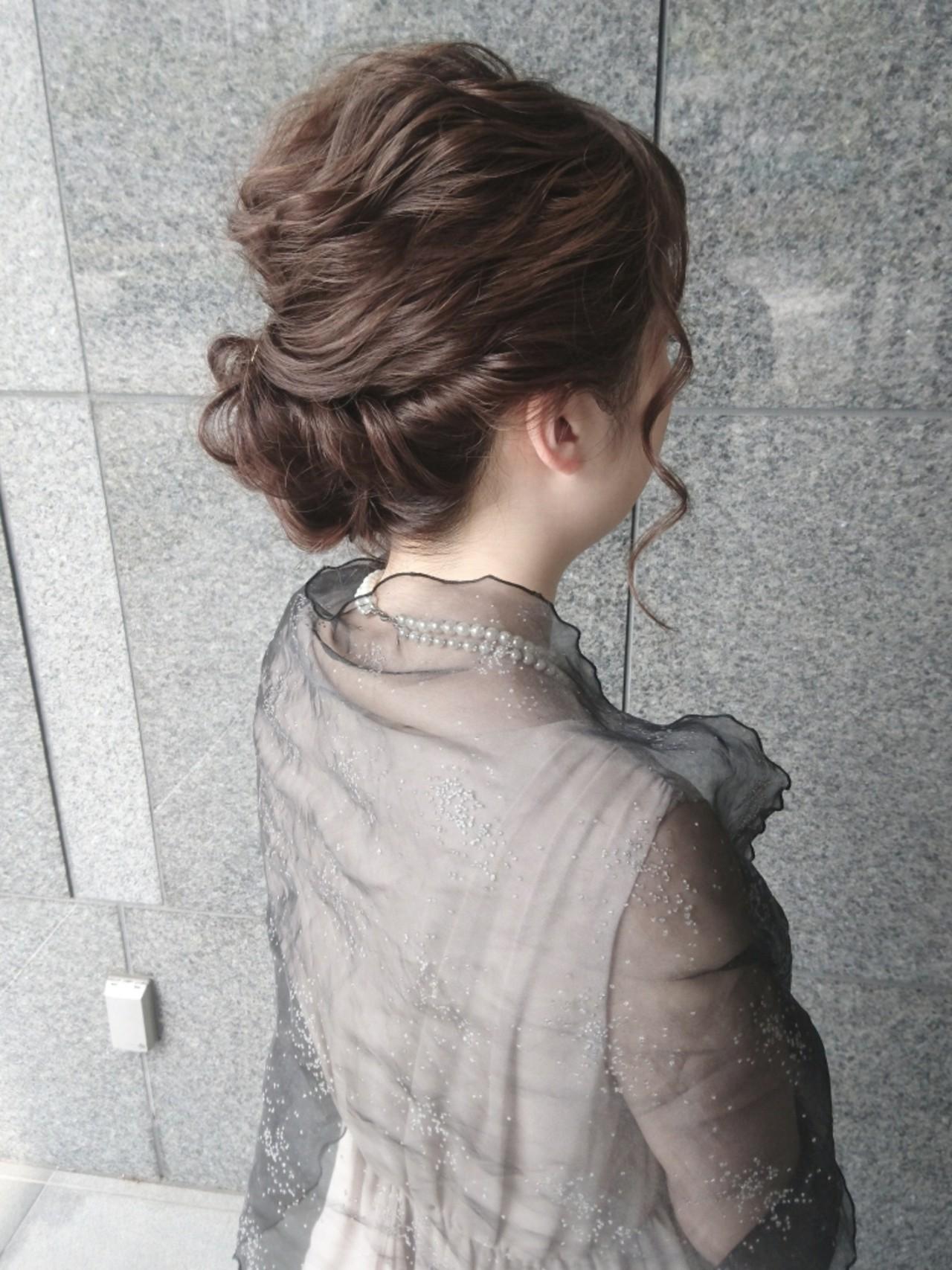 ミディアム ショート ナチュラル 結婚式 ヘアスタイルや髪型の写真・画像   島田 和也 / hair&spa feliceMICHI
