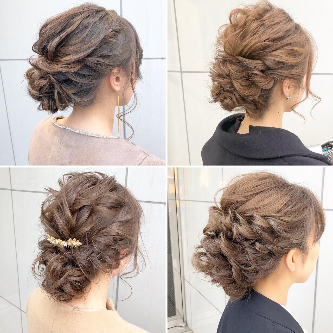 簡単ヘアアレンジ ヘアアレンジ デート ナチュラルヘアスタイルや髪型の写真・画像