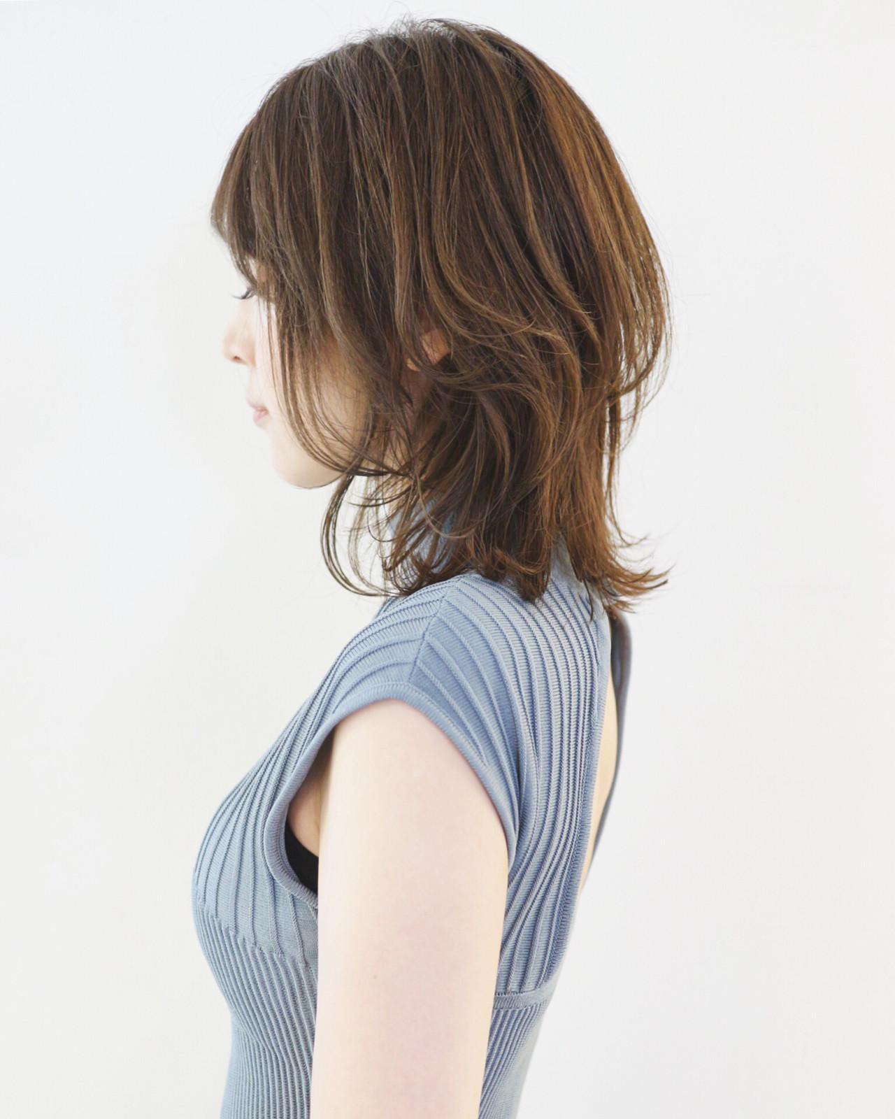フェミニン ボブ ウルフカット レイヤースタイル ヘアスタイルや髪型の写真・画像 | 三好 佳奈美 / Baco.(バコ)