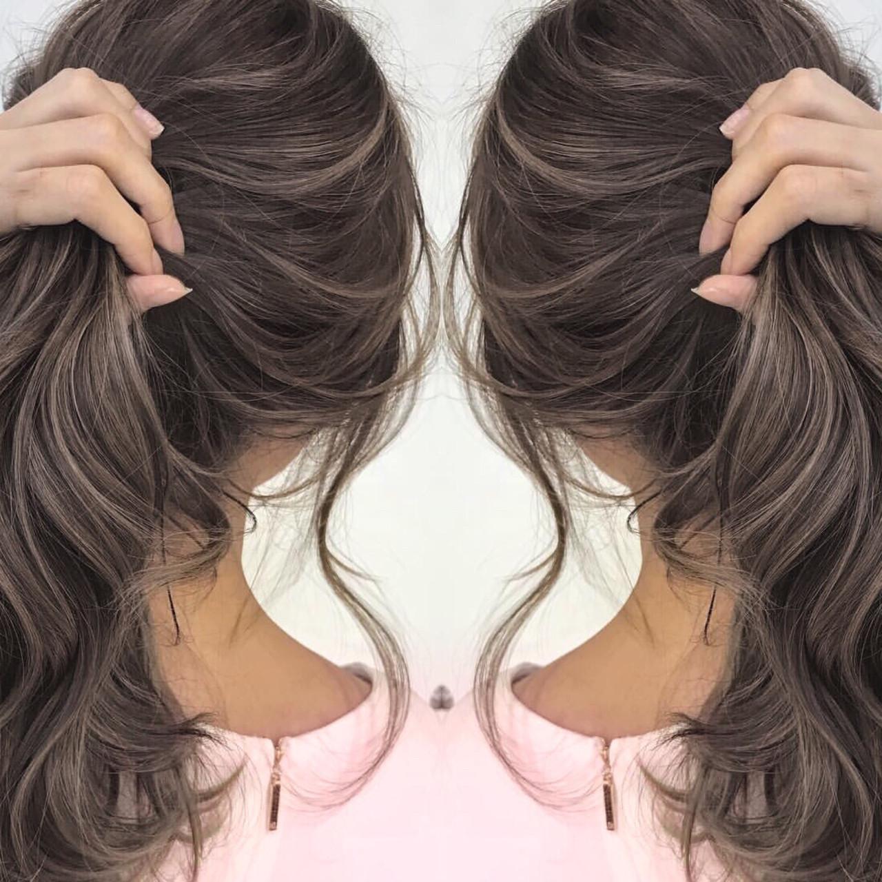 ゆるふわ グレージュ 透明感 上品 ヘアスタイルや髪型の写真・画像 | デザインカラー講師 REOMA / BLITZ R-EVOLUT