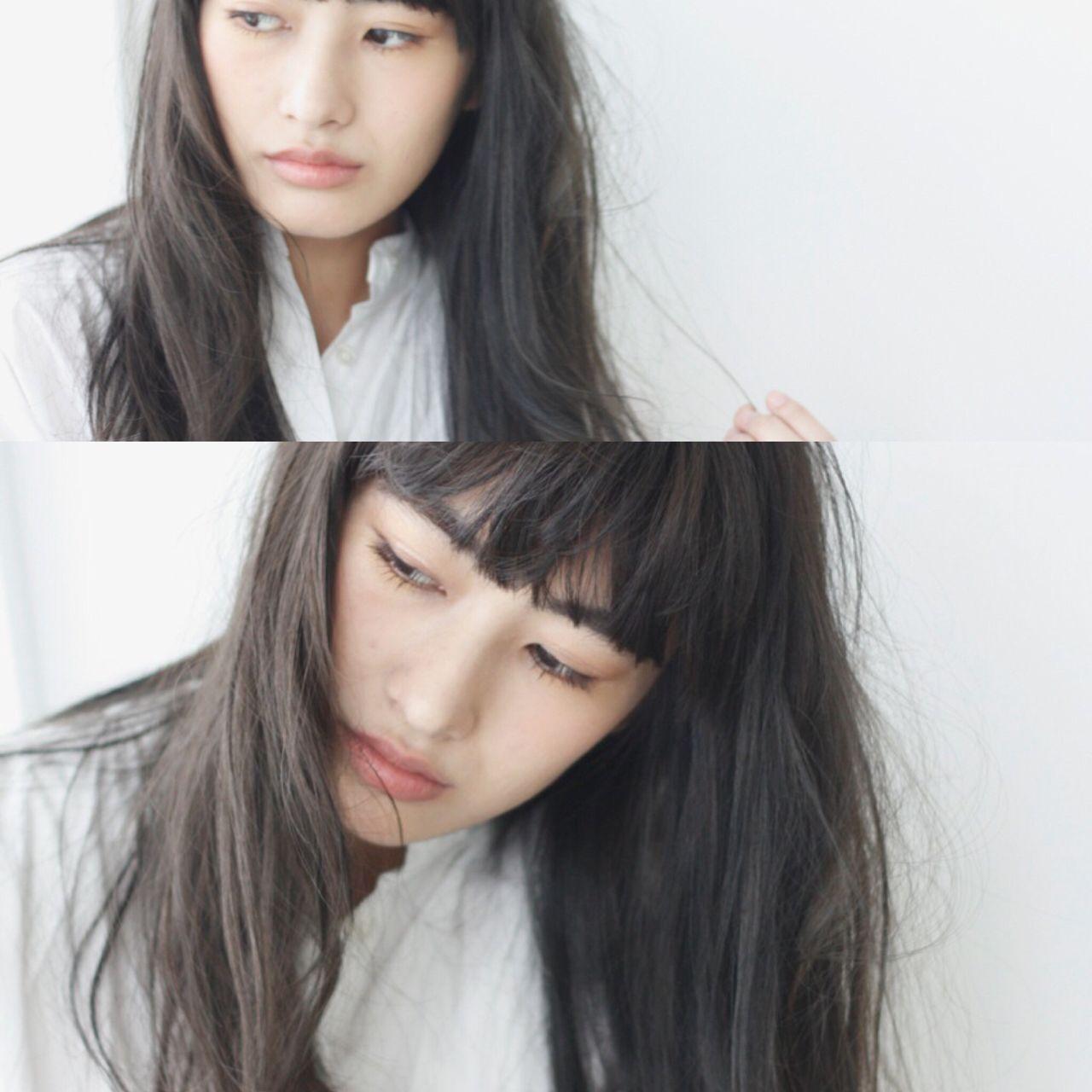 ナチュラル アッシュ 抜け感 マット ヘアスタイルや髪型の写真・画像   青柳枝里香 / BELLA