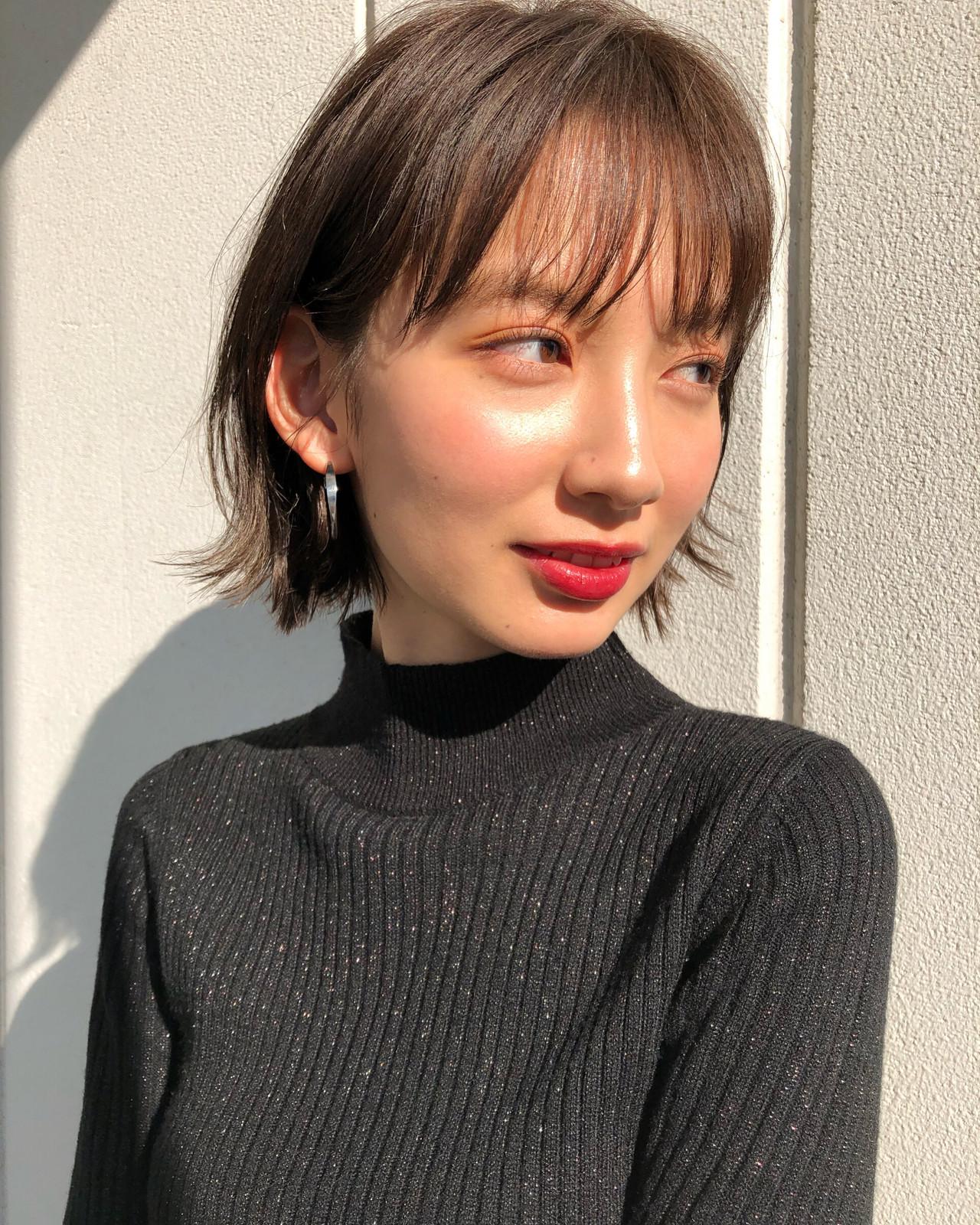 シースルーバング ボブ 前髪 ミニボブ ヘアスタイルや髪型の写真・画像 | 鈴木ゆうすけ / GARDEN  harajuku