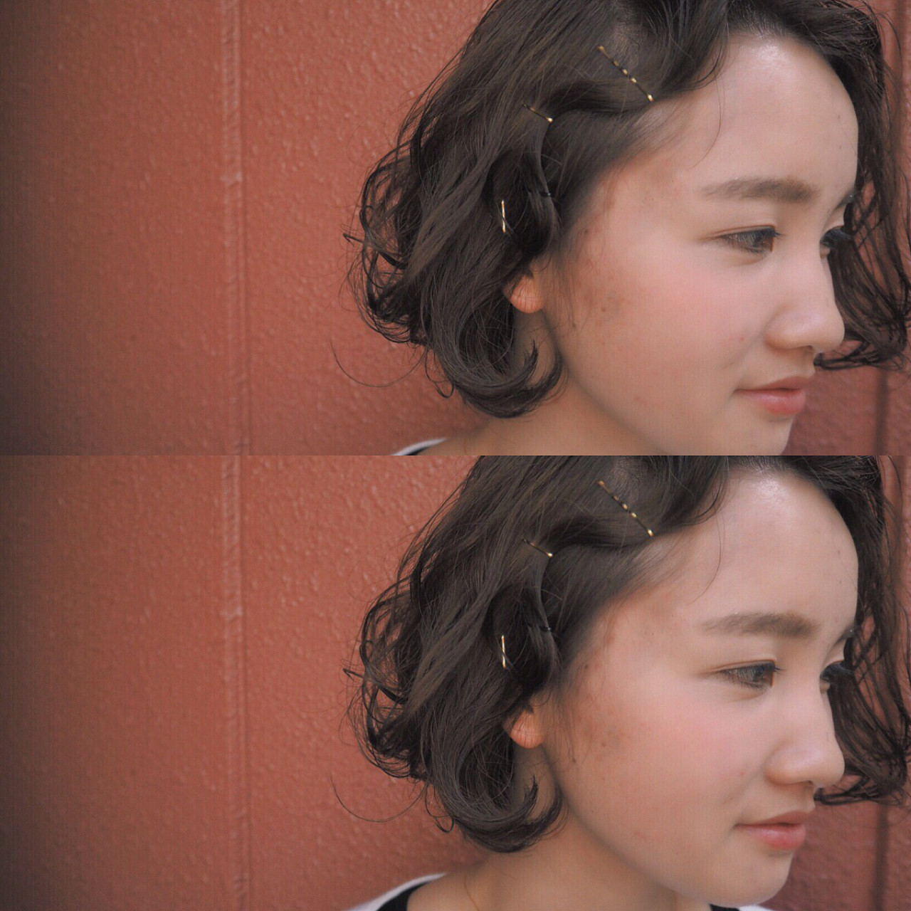 ストリート 黒髪 ボブ パーマ ヘアスタイルや髪型の写真・画像