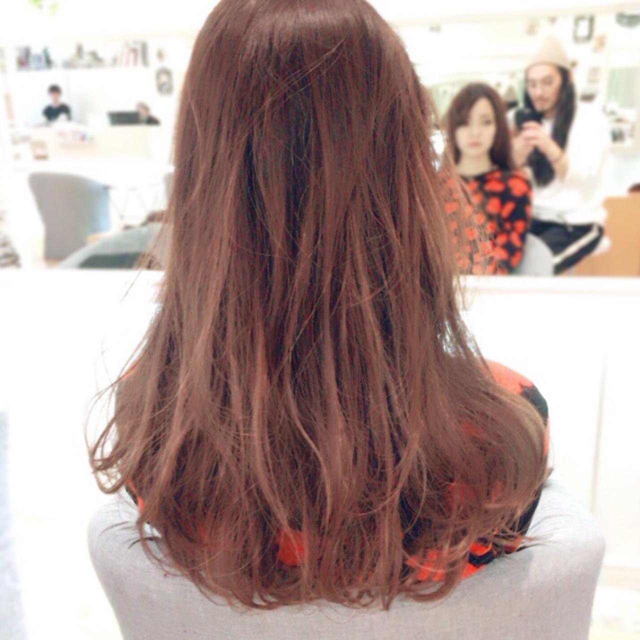 ロング ナチュラル 透明感 ピンク ヘアスタイルや髪型の写真・画像 | イマムラ スナオ / LUKE