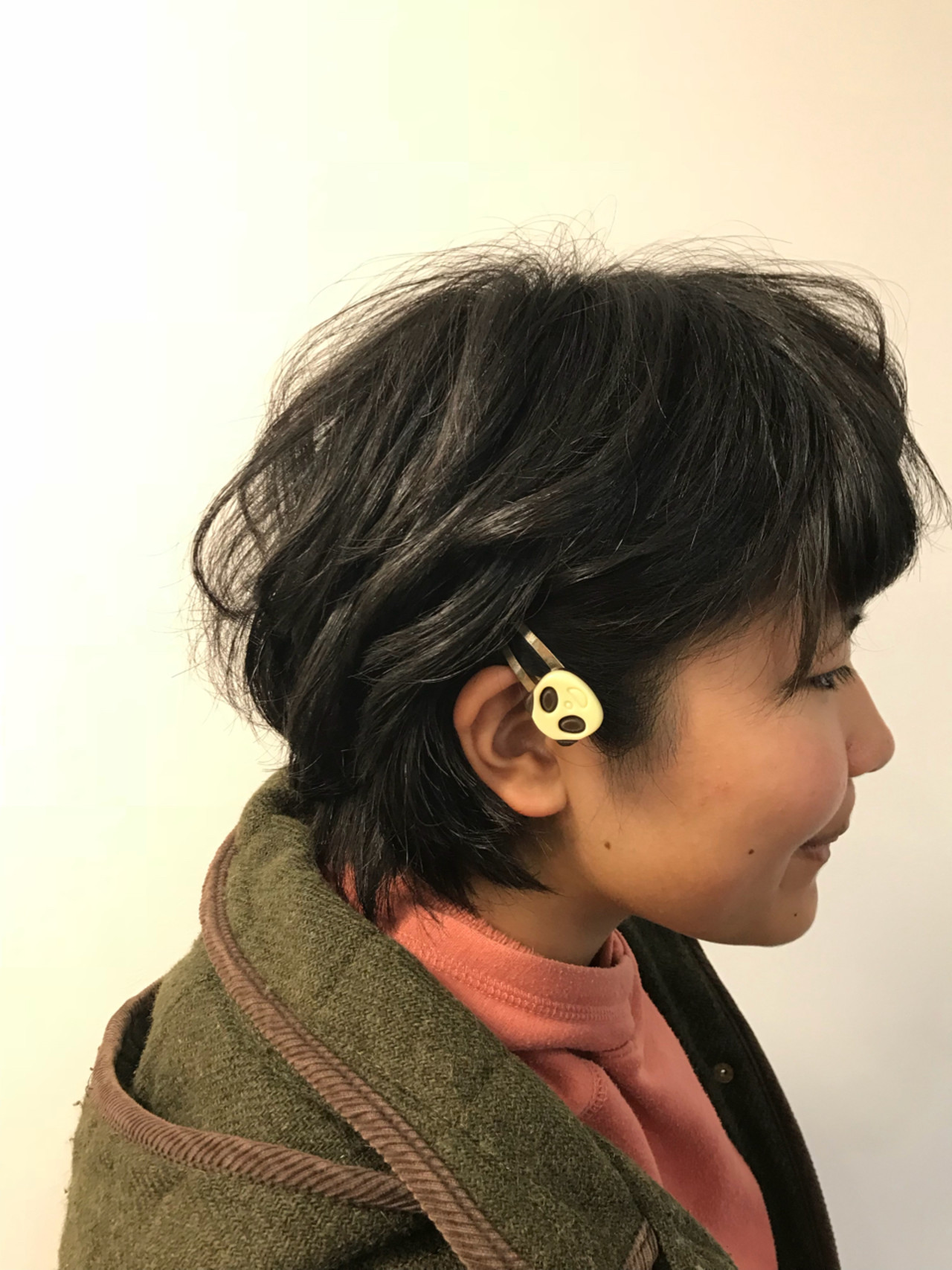 パーマ ヘアアレンジ 黒髪 デート ヘアスタイルや髪型の写真・画像 | タカギツカサ / BECCO