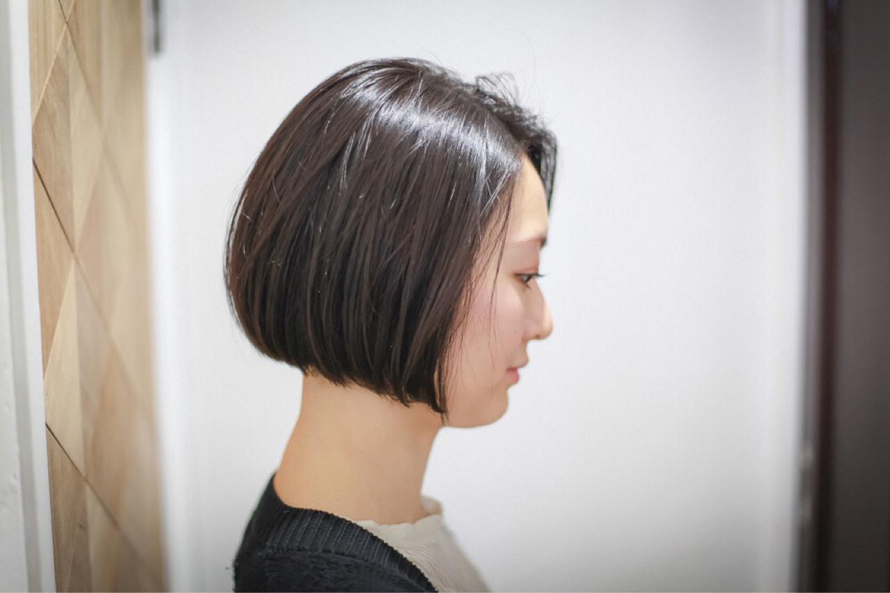 黒髪 暗髪 大人かわいい ナチュラル ヘアスタイルや髪型の写真・画像   治久丸 元太 / GOODYBASE
