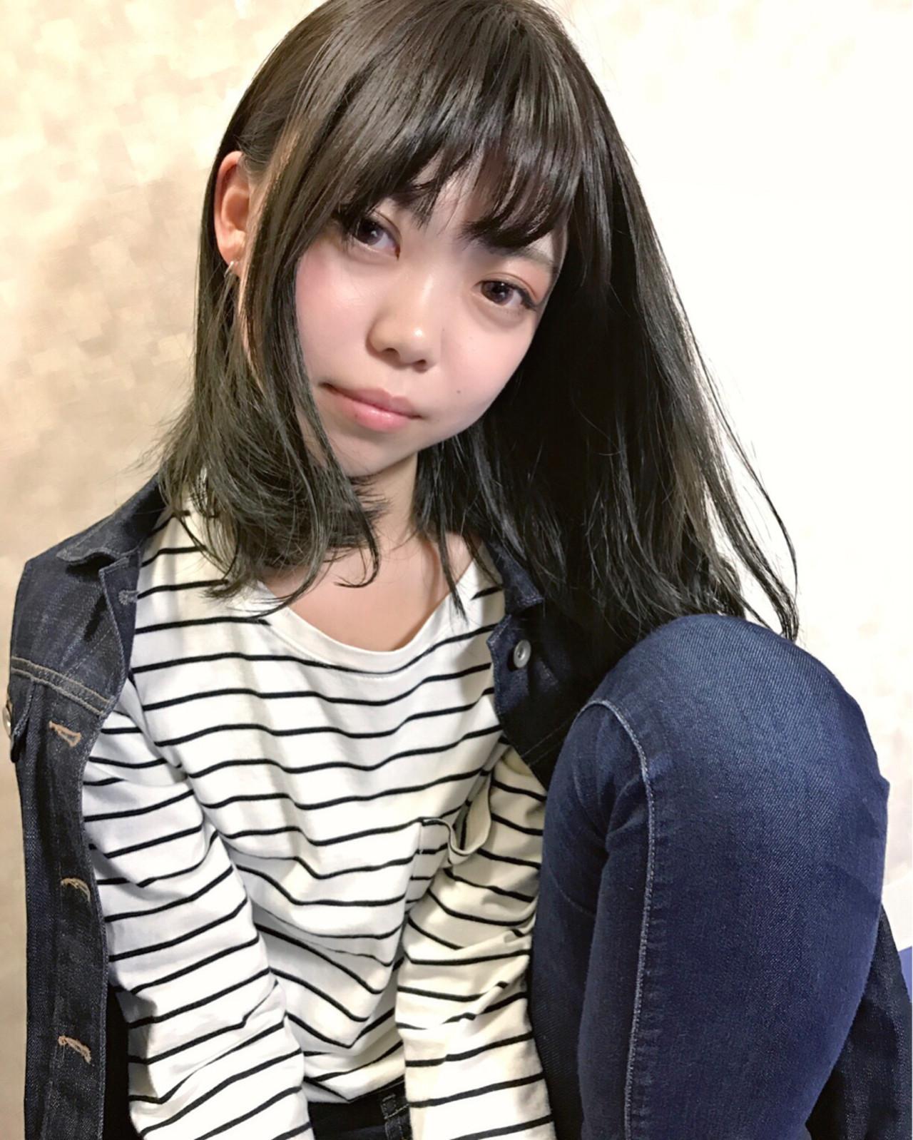 ボブ 色気 前髪あり フリンジバング ヘアスタイルや髪型の写真・画像 | 阿部 豪 / KiRANA SENDAI