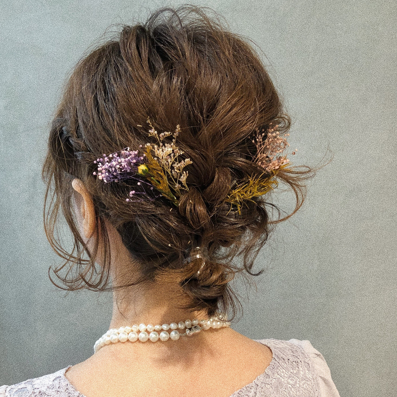 デート ボブ ナチュラル 簡単ヘアアレンジヘアスタイルや髪型の写真・画像