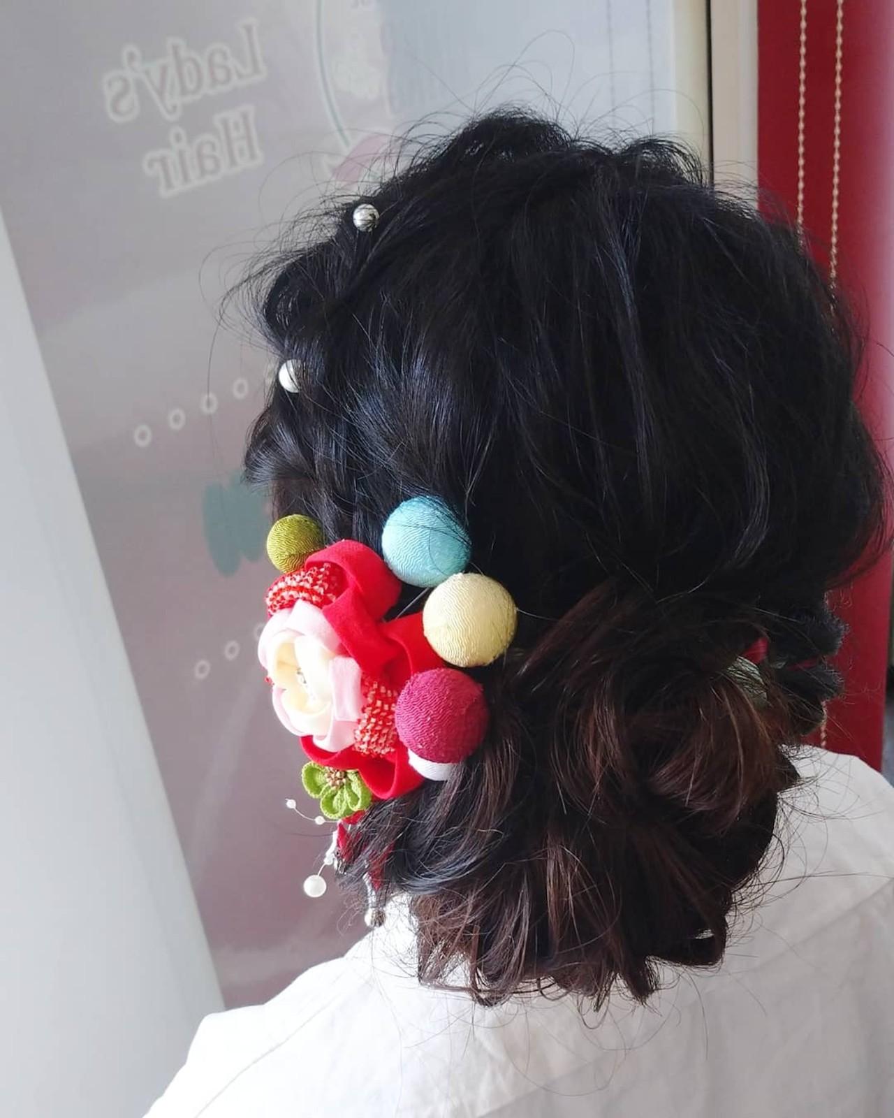 成人式 セミロング 成人式ヘア ナチュラルヘアスタイルや髪型の写真・画像