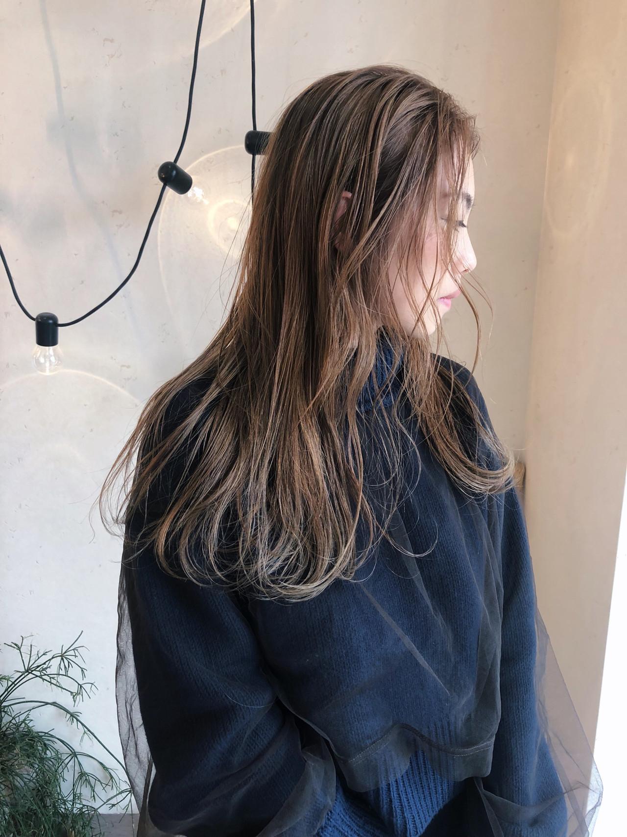 ナチュラル ハイトーンカラー 大人かわいい アンニュイほつれヘア ヘアスタイルや髪型の写真・画像 | 原木翔太 / lufun hair design  ルファン