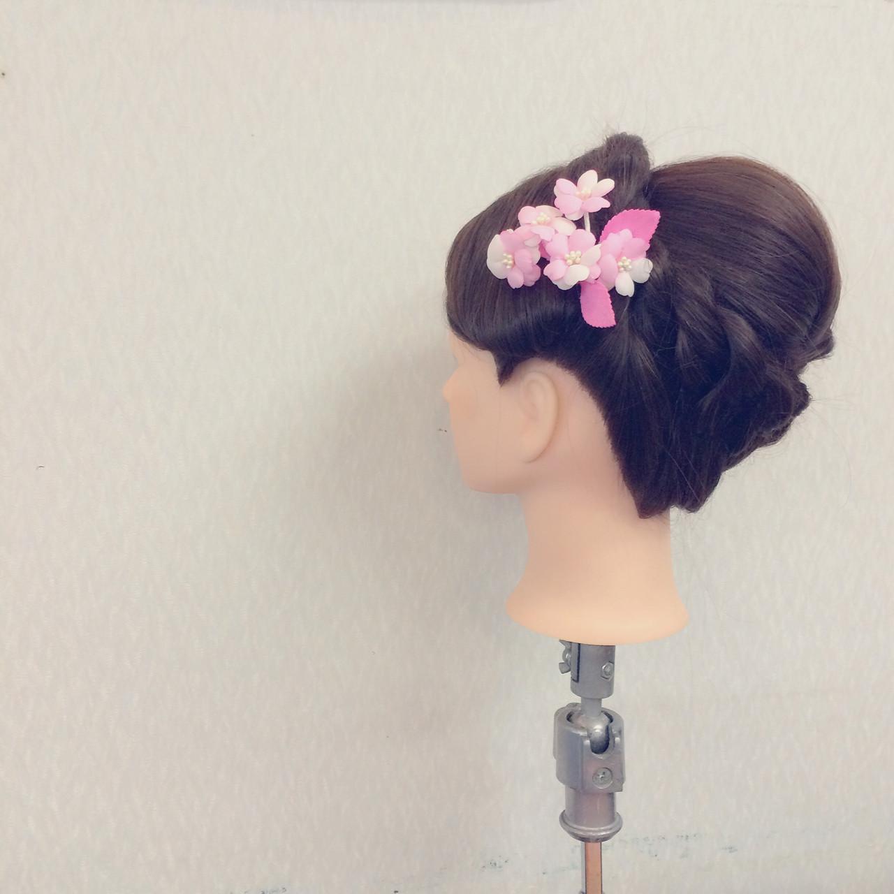 結婚式 簡単ヘアアレンジ セミロング ヘアアレンジ ヘアスタイルや髪型の写真・画像 | ヤマナカサトル / DIOR of Hair