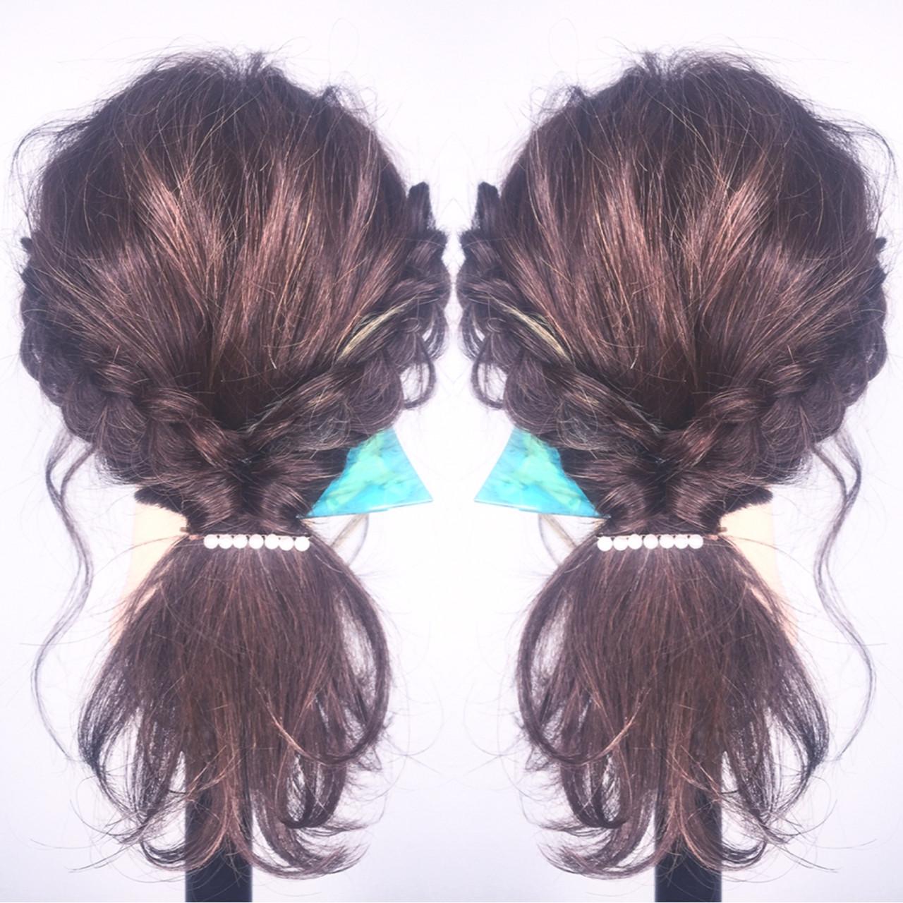 ショート 大人女子 ロング 簡単ヘアアレンジヘアスタイルや髪型の写真・画像