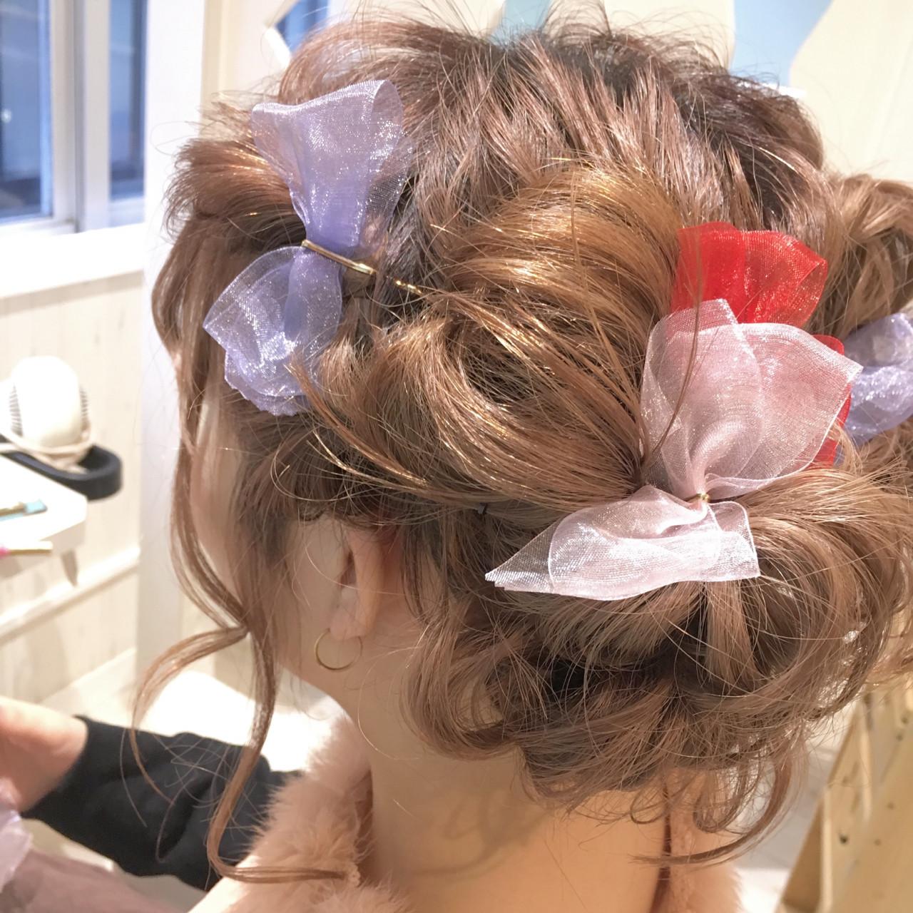 簡単ヘアアレンジ ショート 結婚式 ヘアアレンジ ヘアスタイルや髪型の写真・画像   藤原つかさ / hair resort NOAH銀座