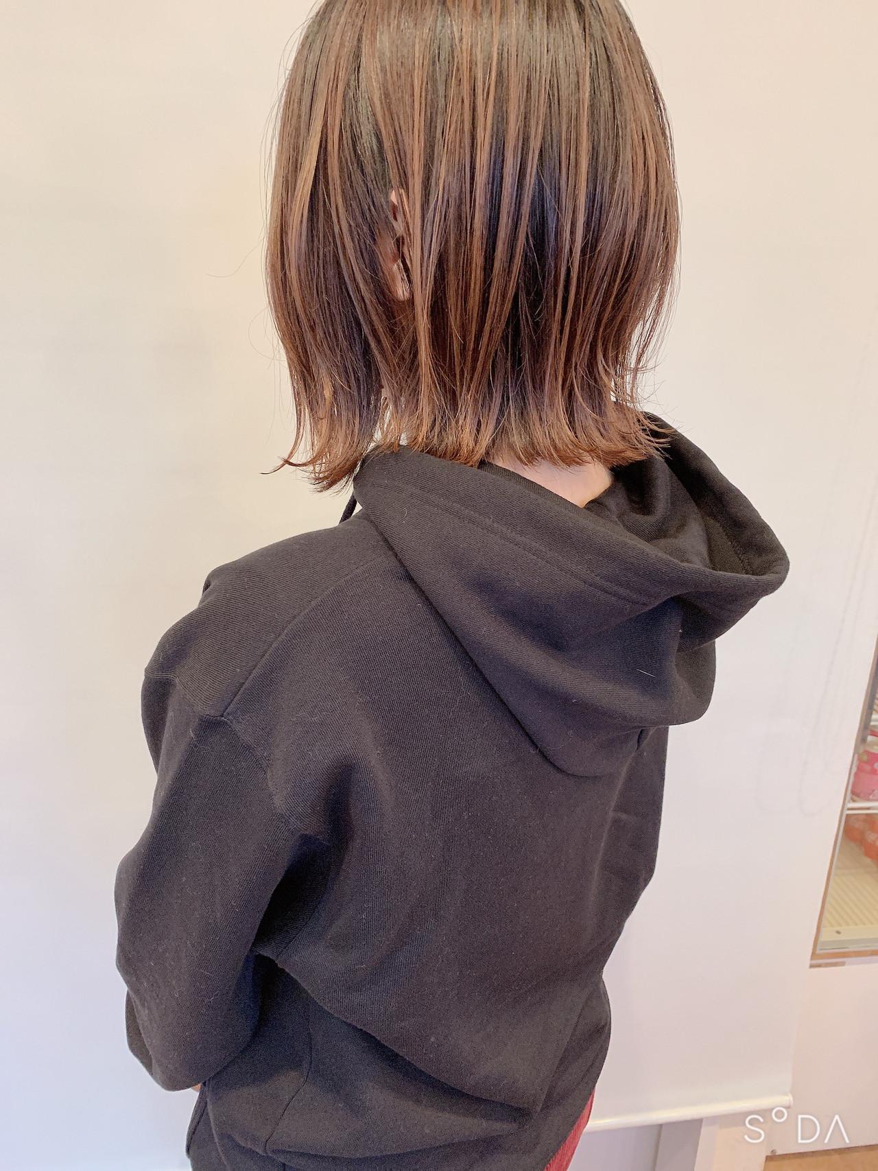 ショートボブ 切りっぱなしボブ ナチュラル ボブ ヘアスタイルや髪型の写真・画像 | 宮川好江 / Euphoria SHIBUYA GRANDE