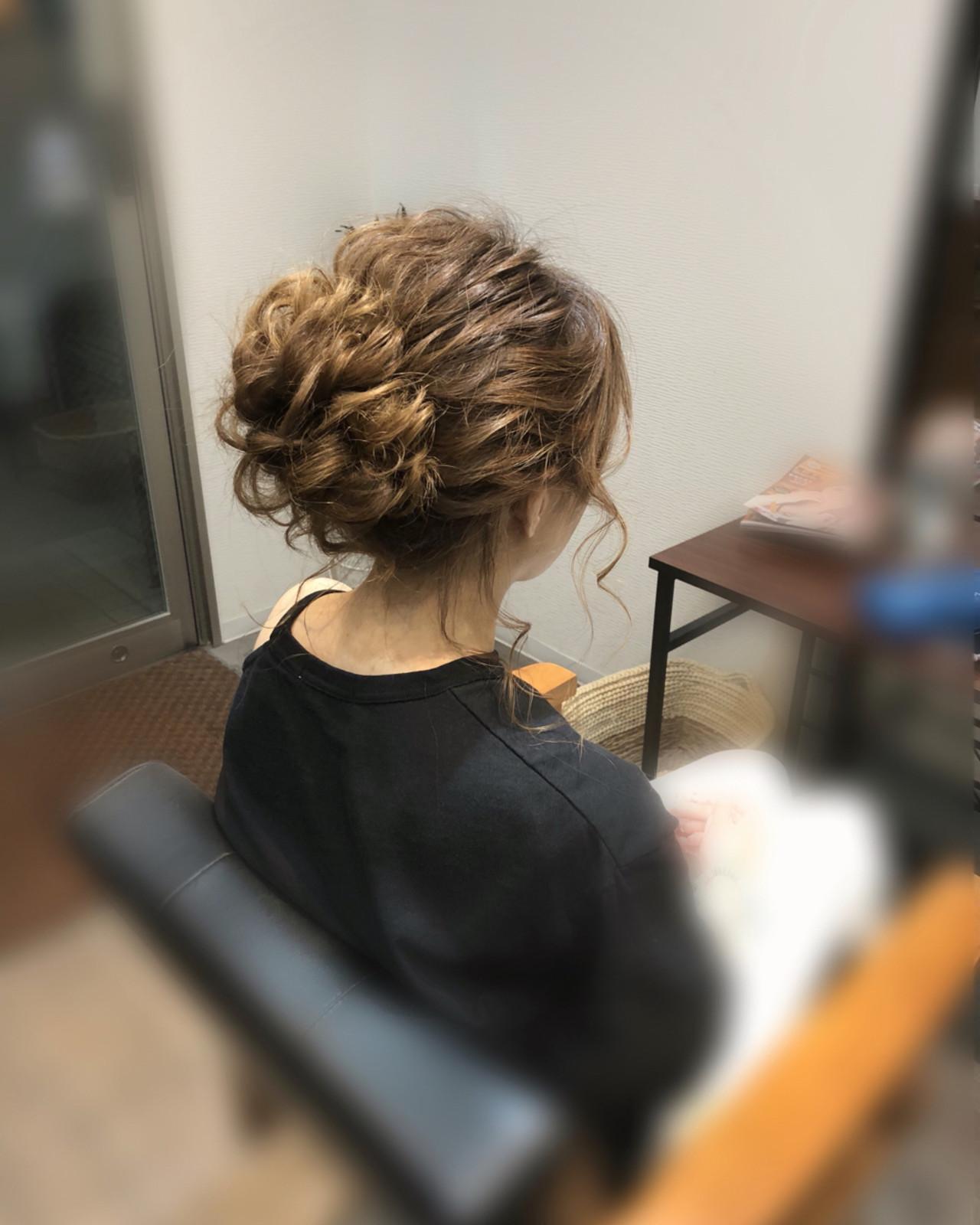 ヘアアレンジ ミディアム アップスタイル パーティ ヘアスタイルや髪型の写真・画像 | mai / HAIR SALON STELLA