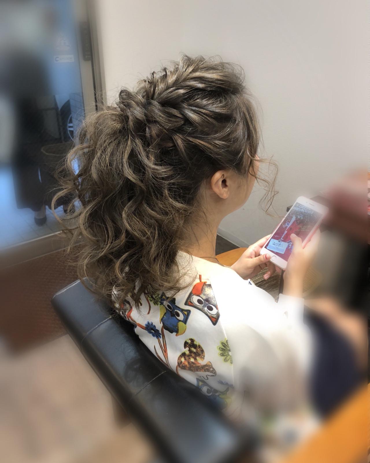 ヘアアレンジ アップスタイル フェミニン ミディアム ヘアスタイルや髪型の写真・画像   mai / HAIR SALON STELLA