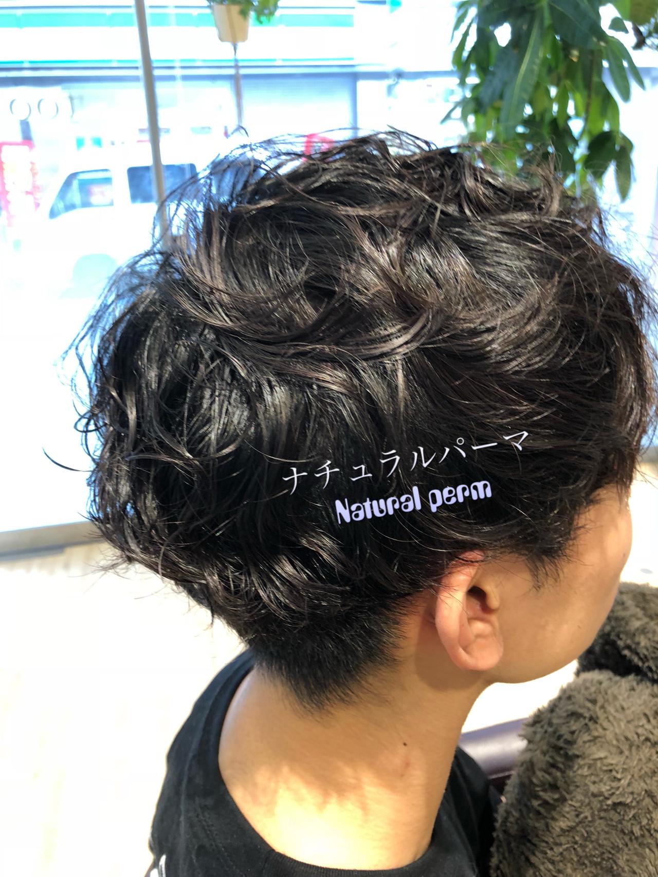 ショート パーマ メンズスタイル メンズパーマ ヘアスタイルや髪型の写真・画像 | 小泉 俊輔 / toohair